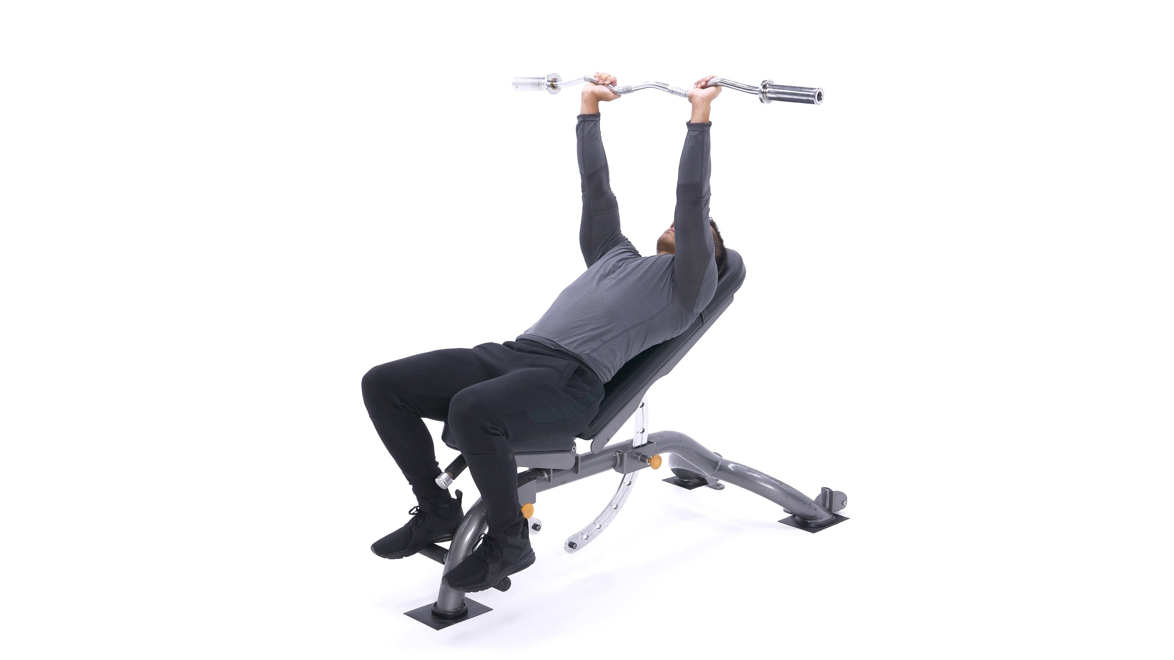 Incline Barbell Triceps Extension image
