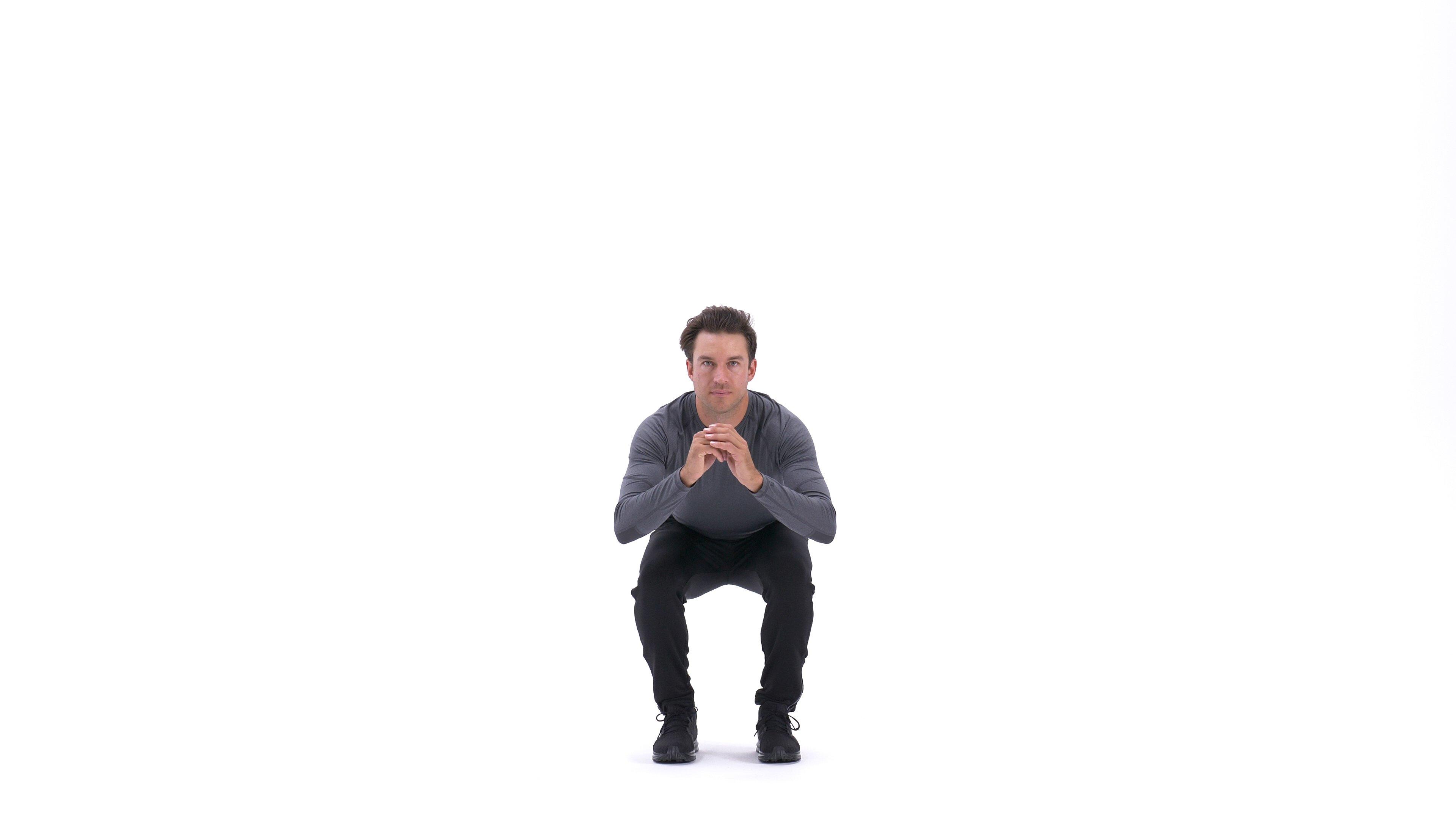 Narrow-stance squat image