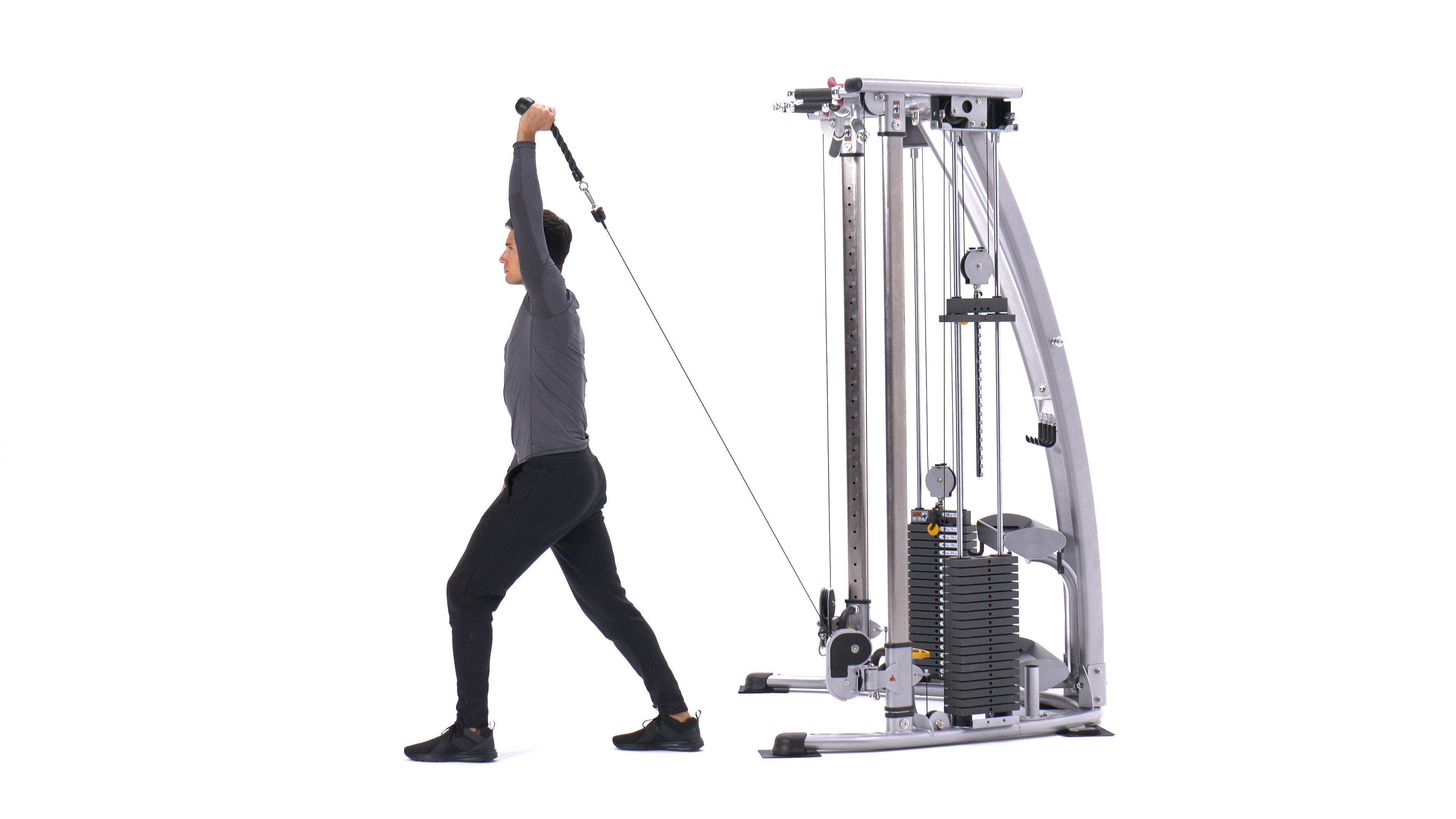 Single-arm low cable triceps extension image