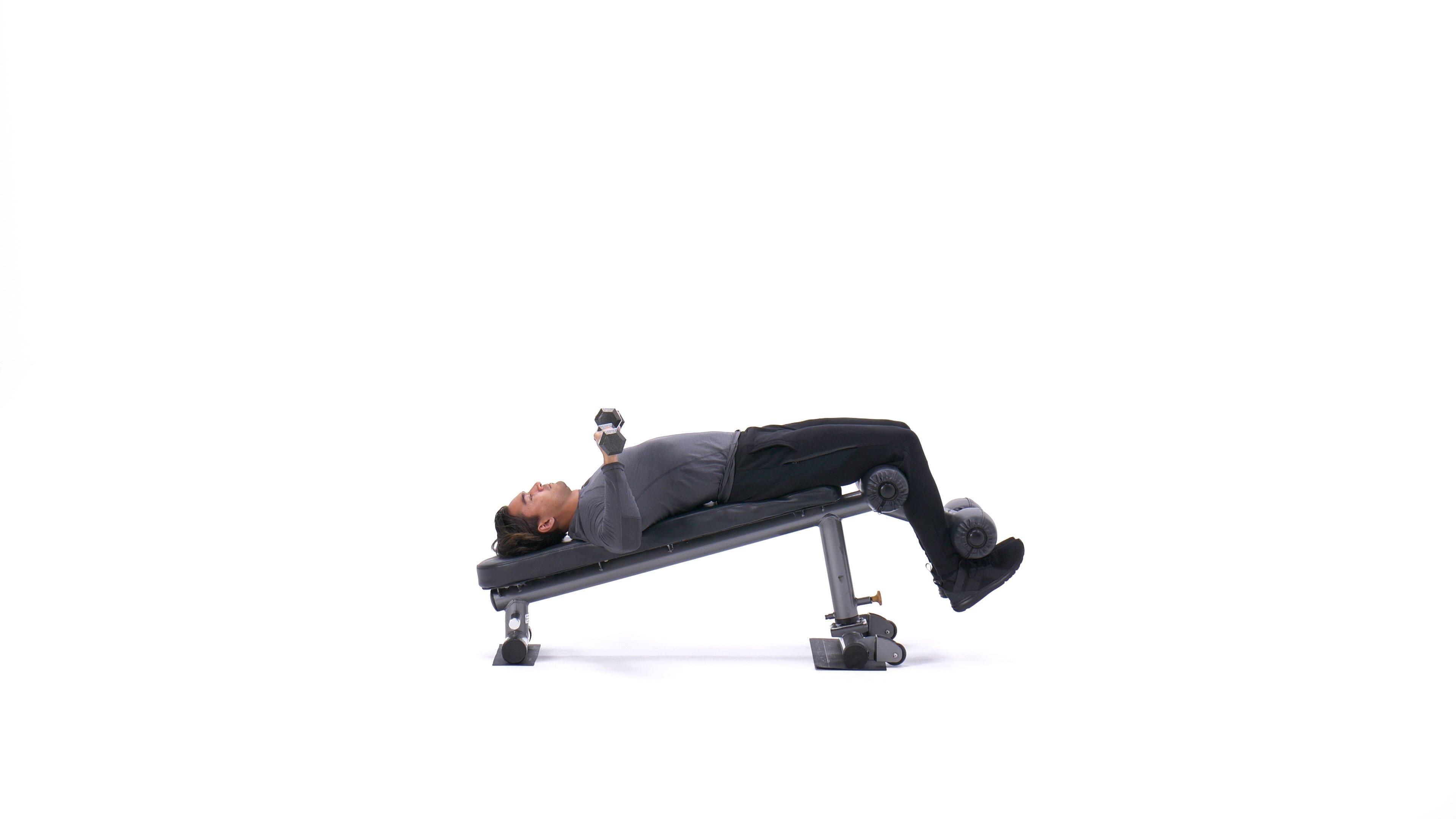 Decline dumbbell bench press image