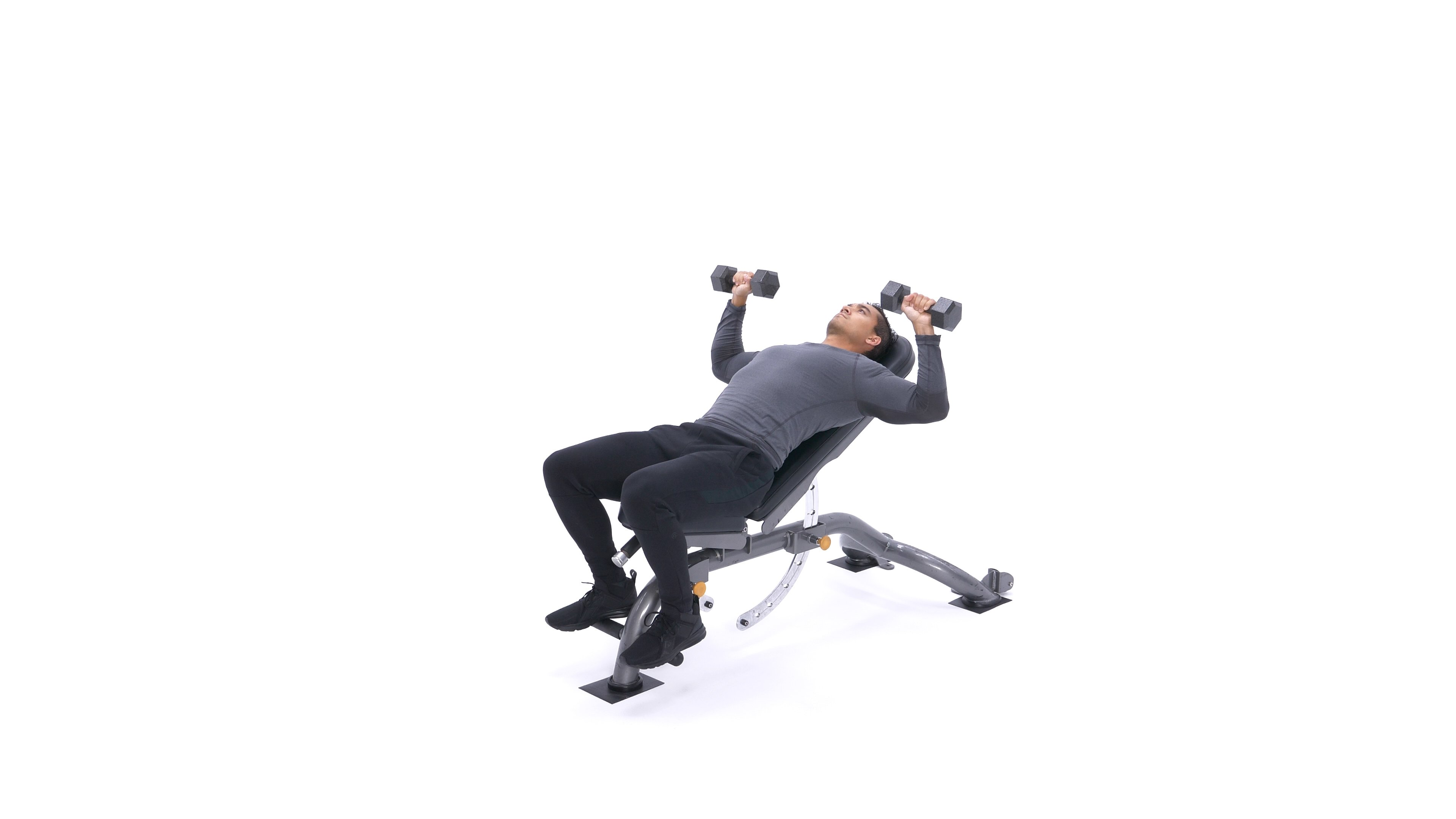 Incline dumbbell bench press image