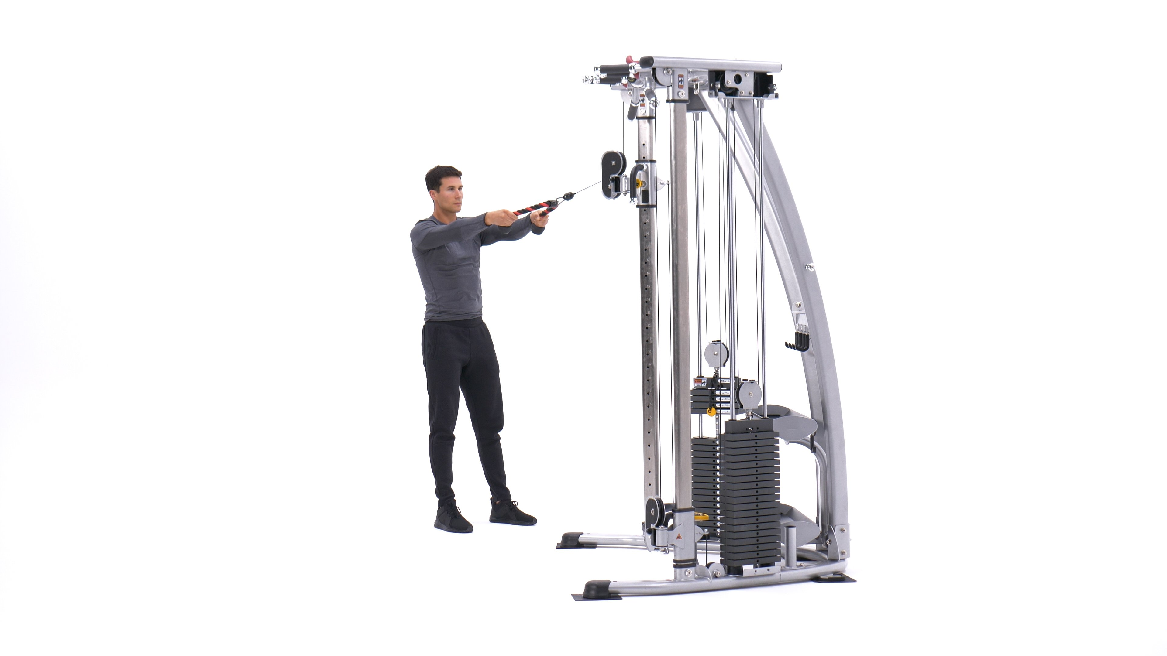 Standing face pull image