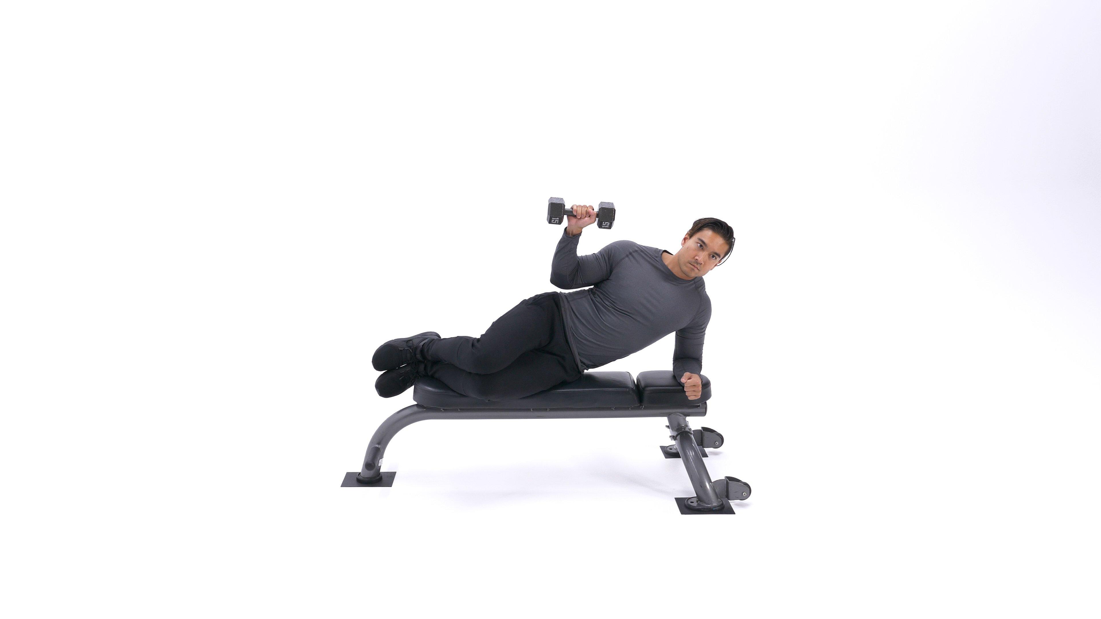 Dumbbell external shoulder rotation image