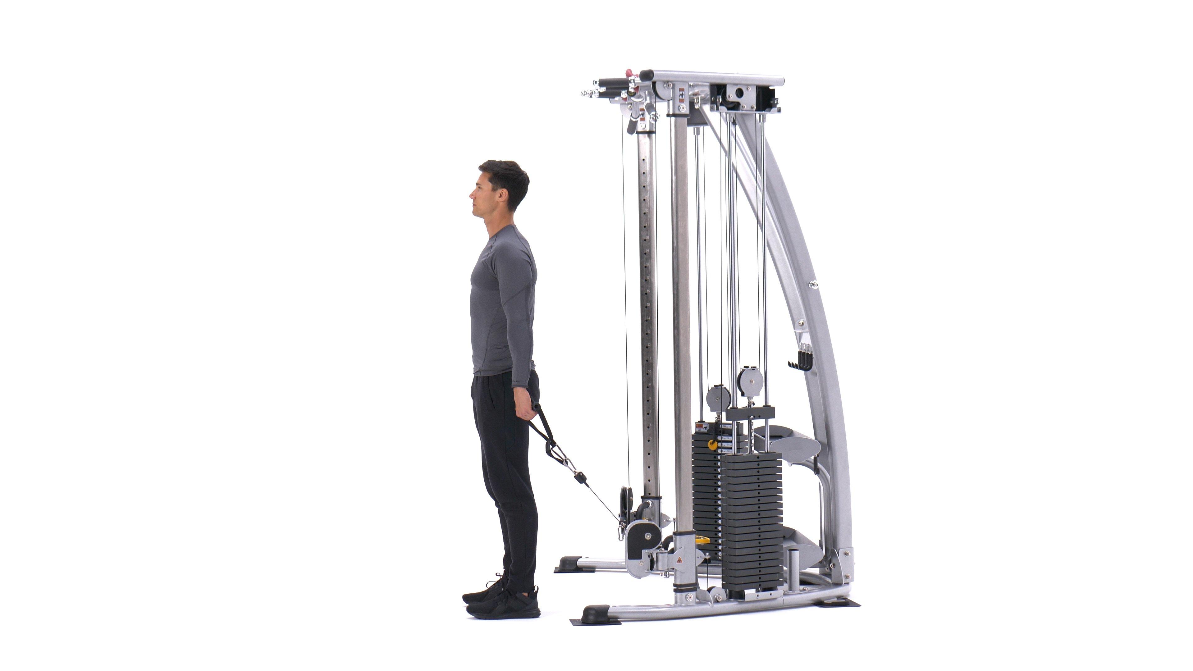Single-arm cable front raise image