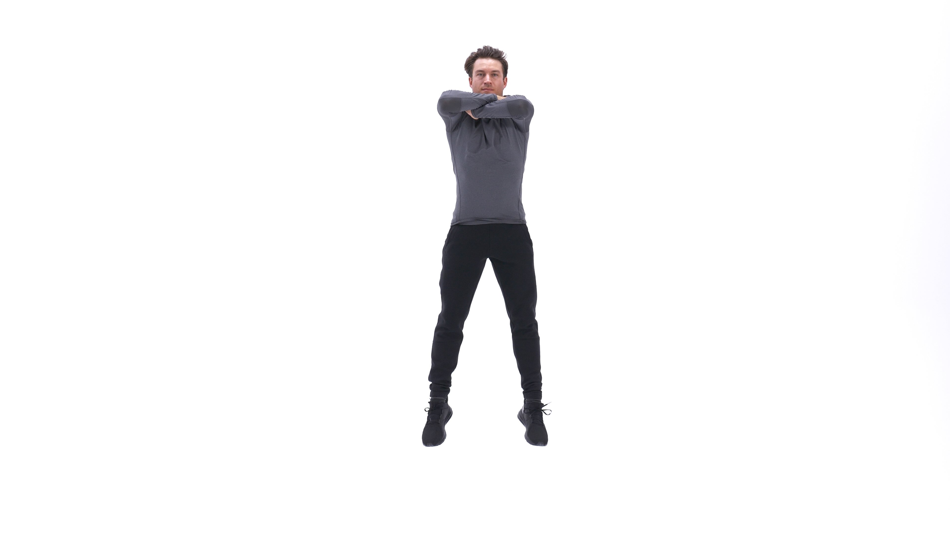 Arms-crossed jump squat image