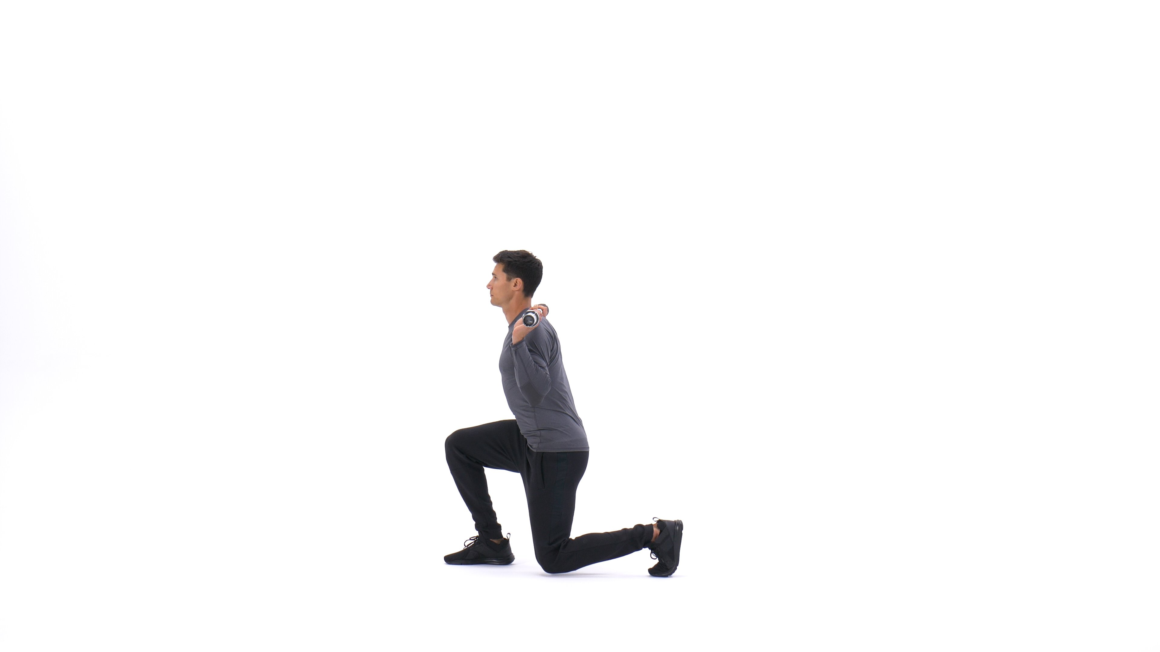 Barbell forward lunge image