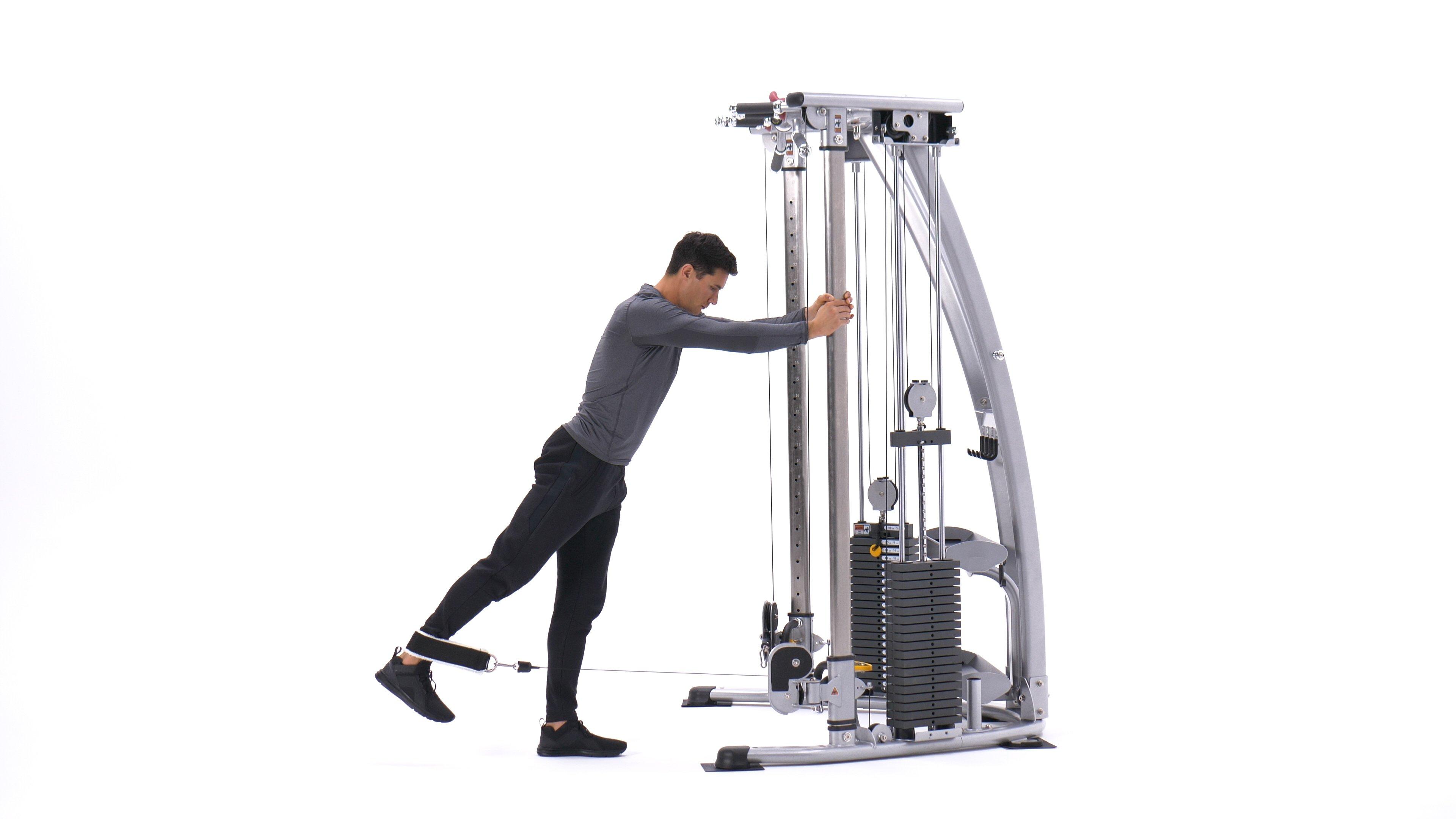 Single-leg cable hip extension image