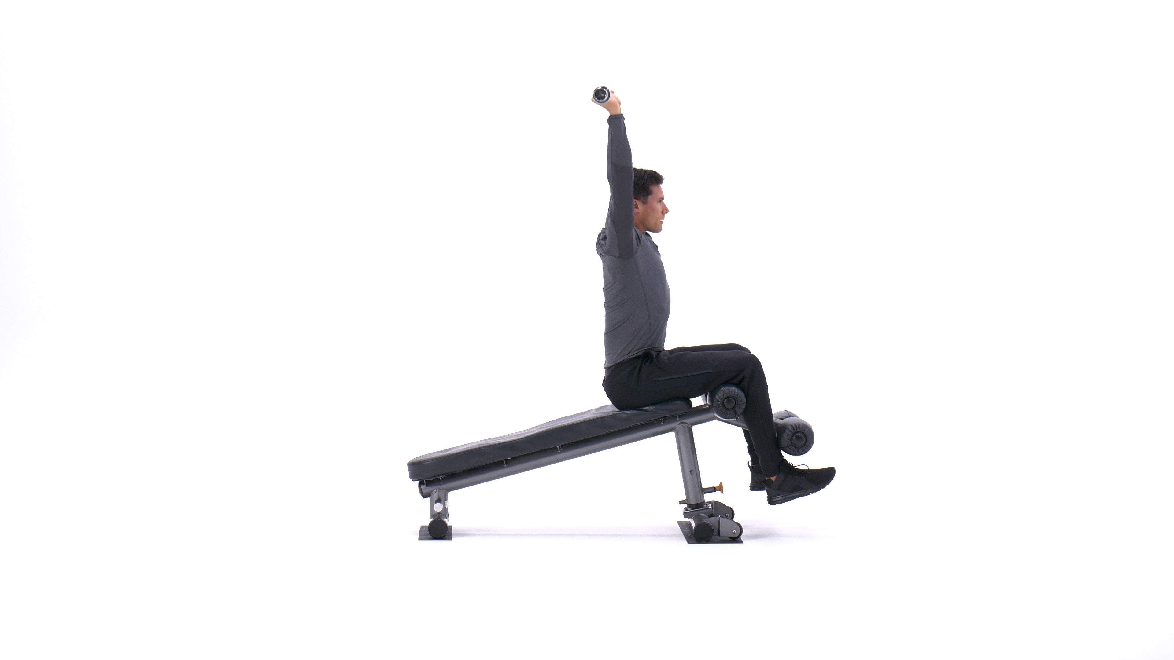Decline bar press sit-up image