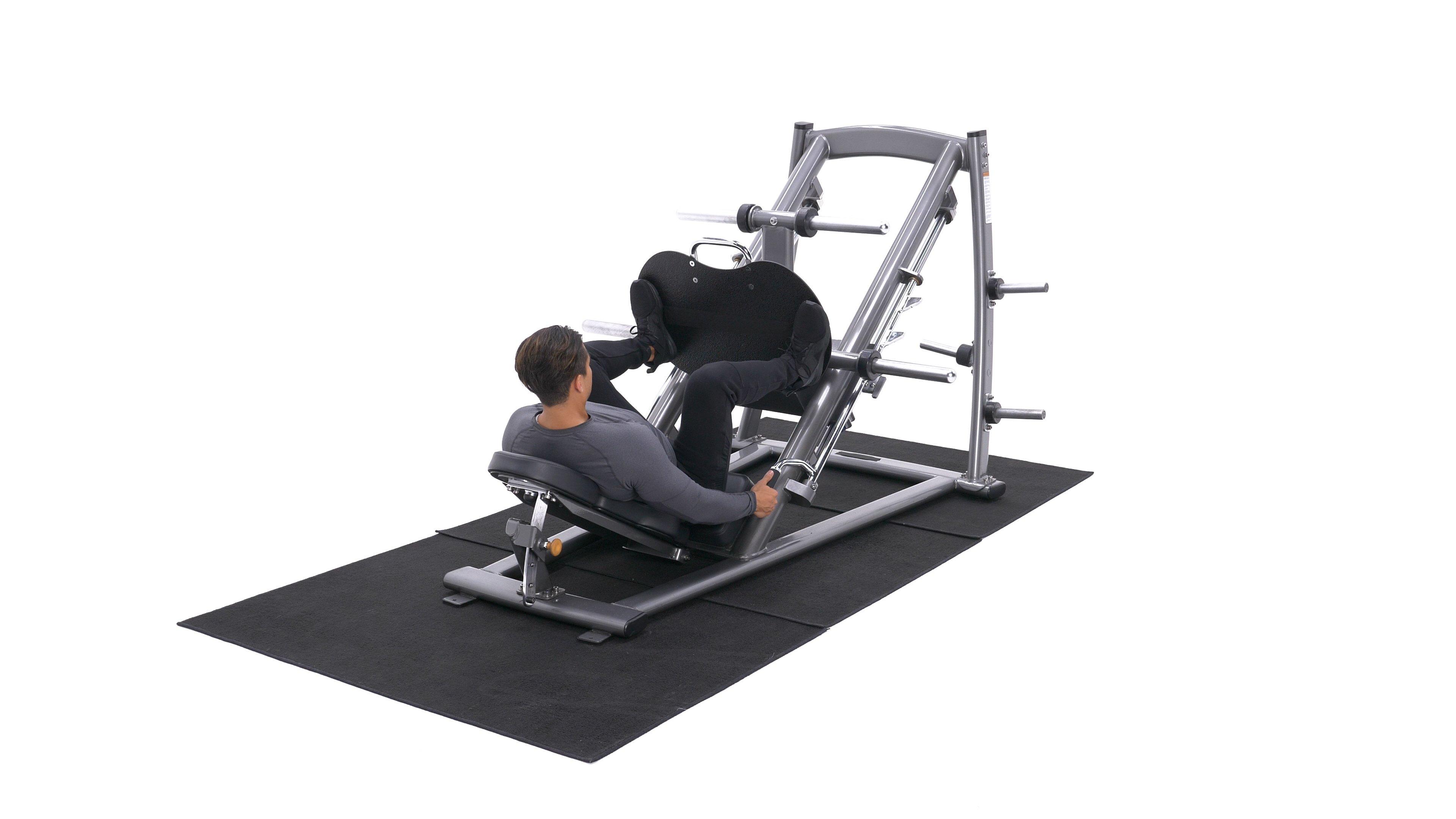 Narrow-stance leg press image