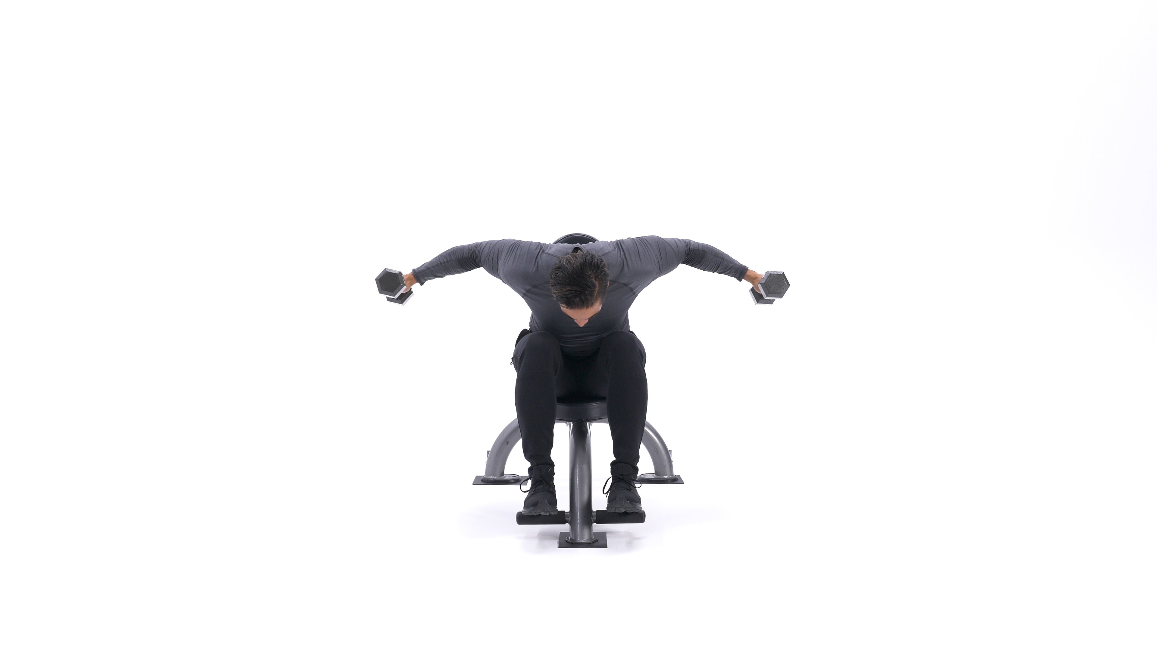 Seated rear delt fly image