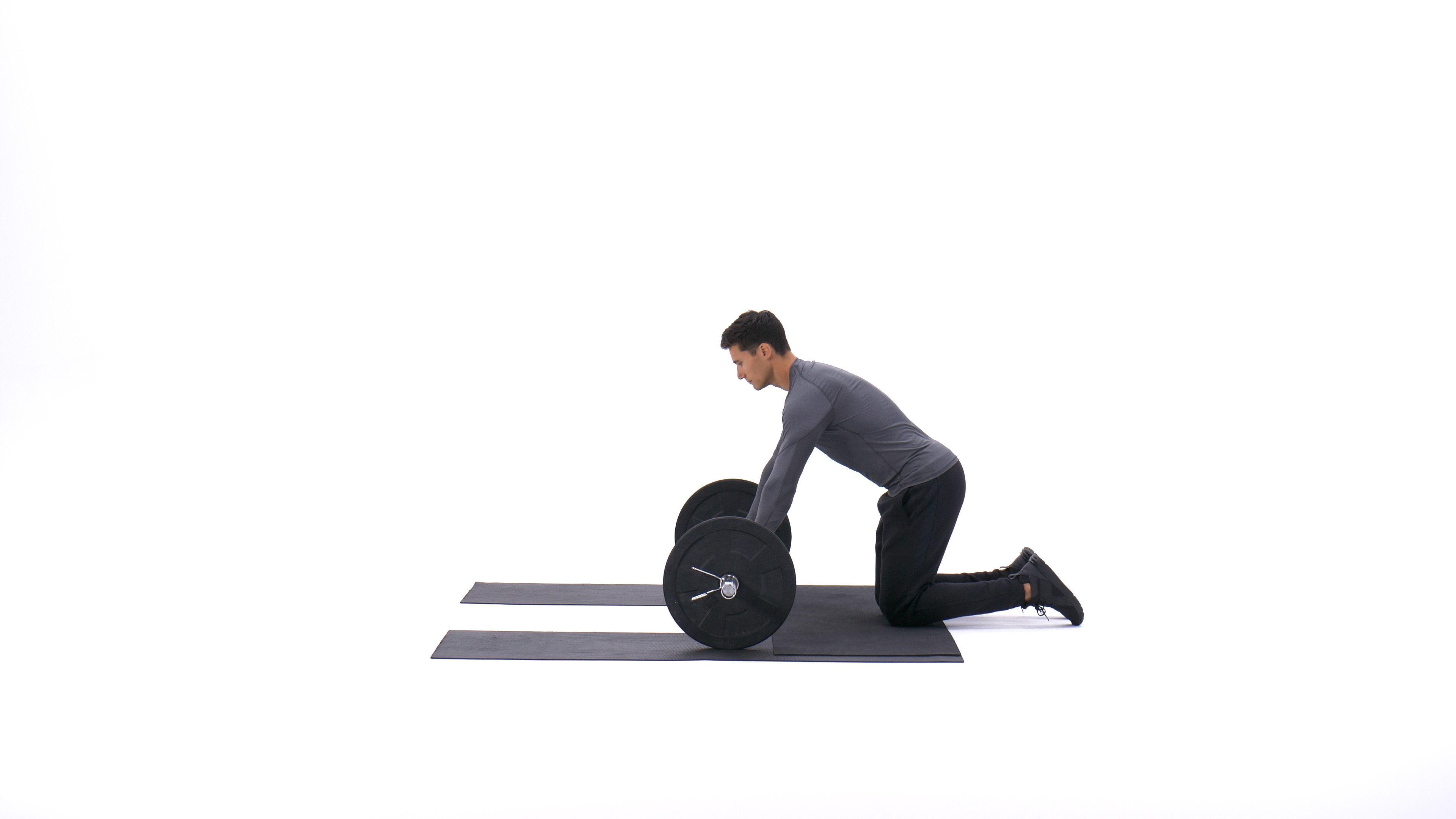 Barbell Ab Rollout - On Knees image