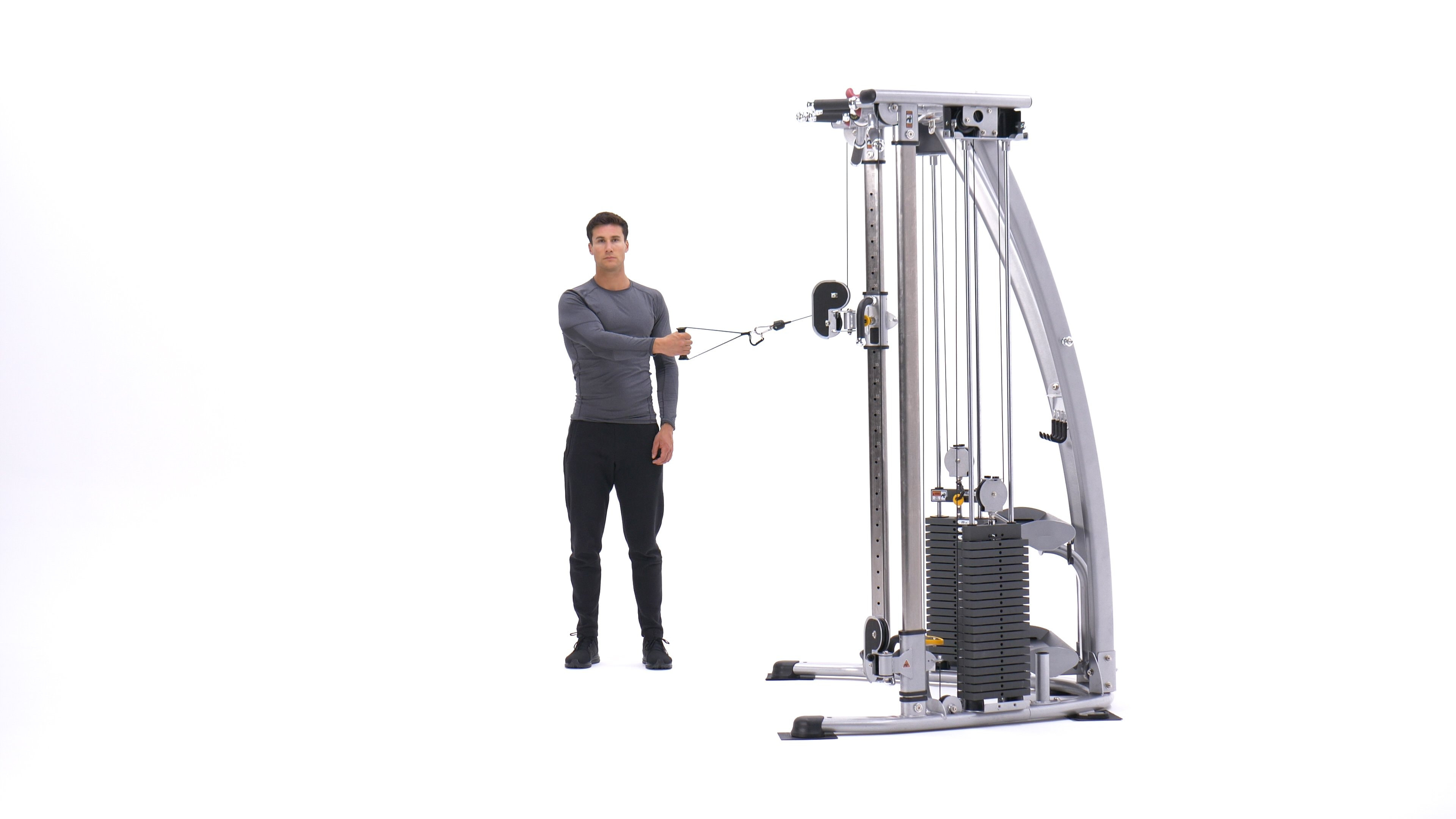 Single-arm bent-over cable rear delt fly image