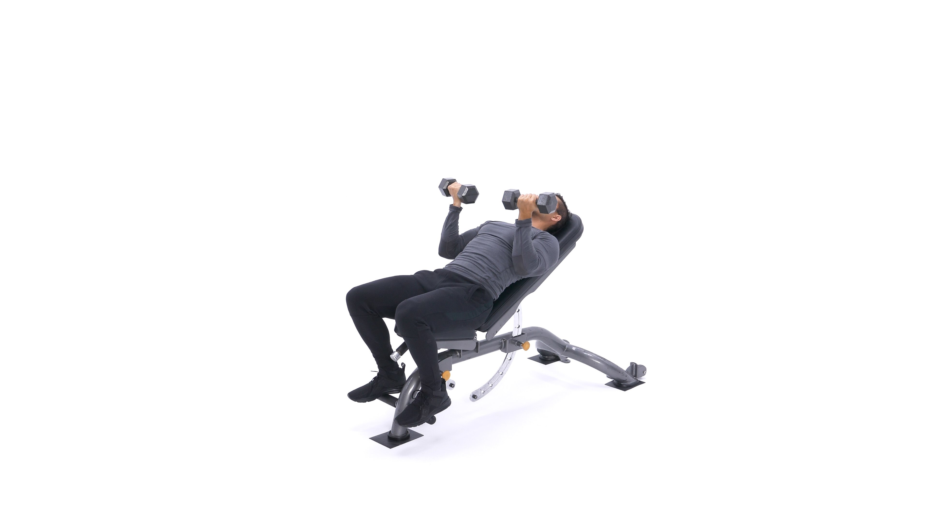 Incline Dumbbell Press Reverse-Grip image