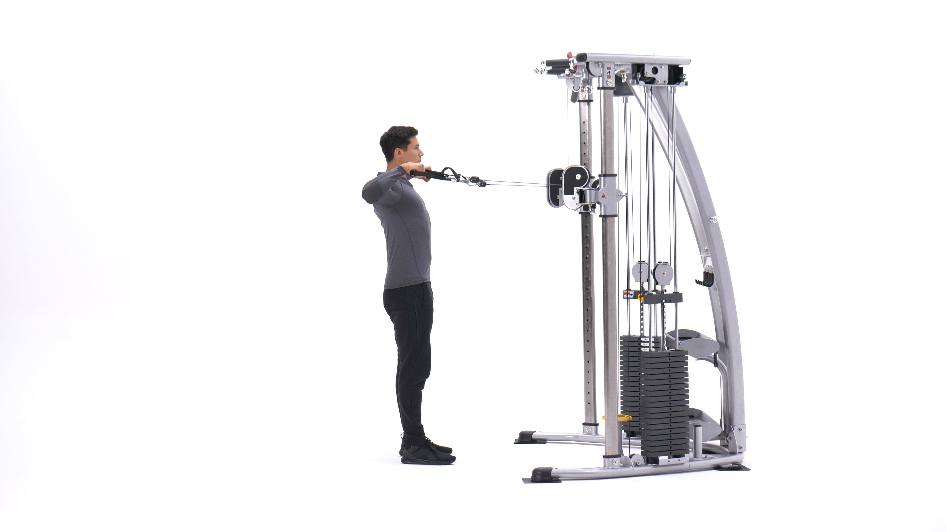 Standing cable rear delt row image