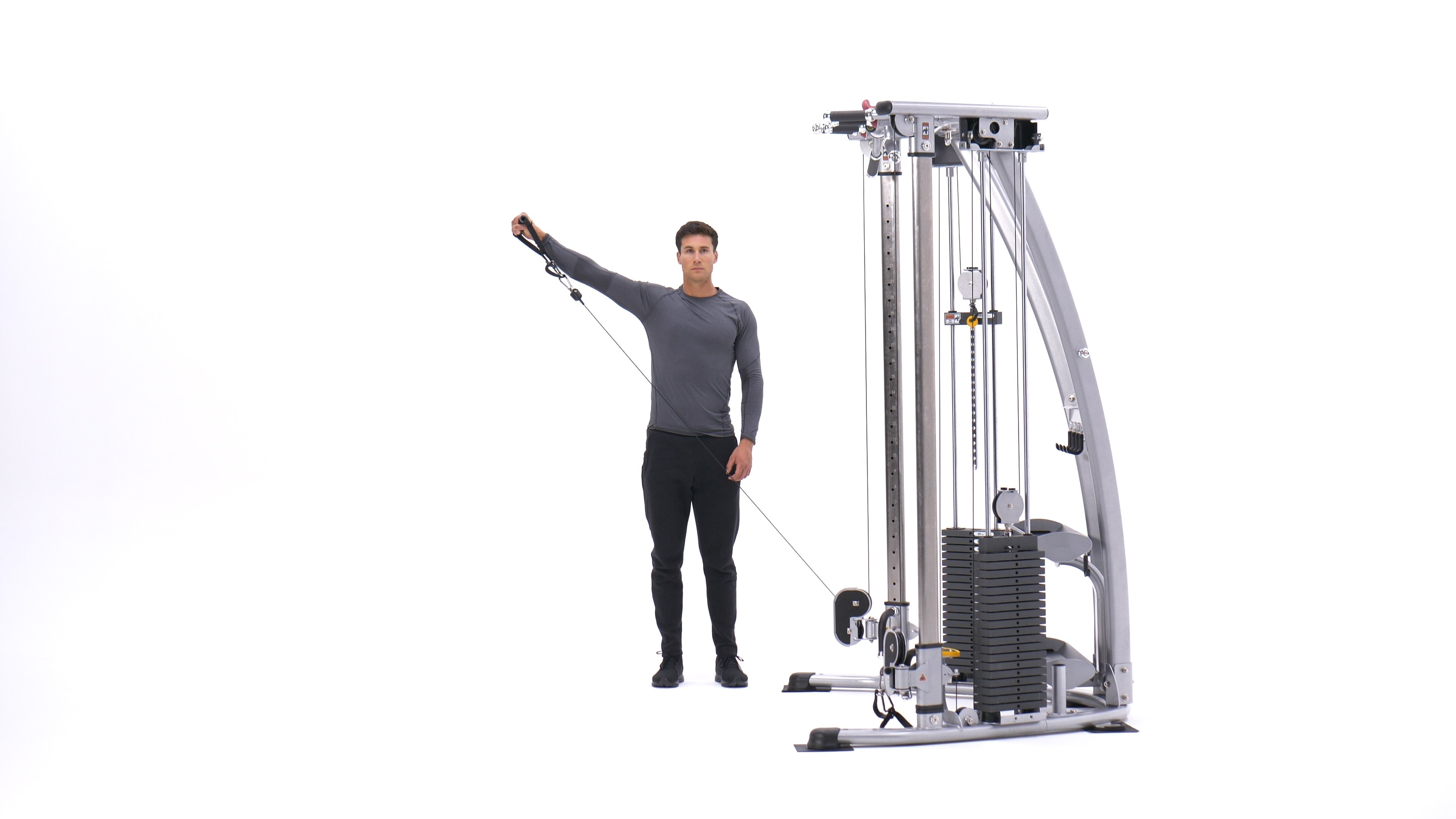 Standing Low-Pulley Deltoid Raise image