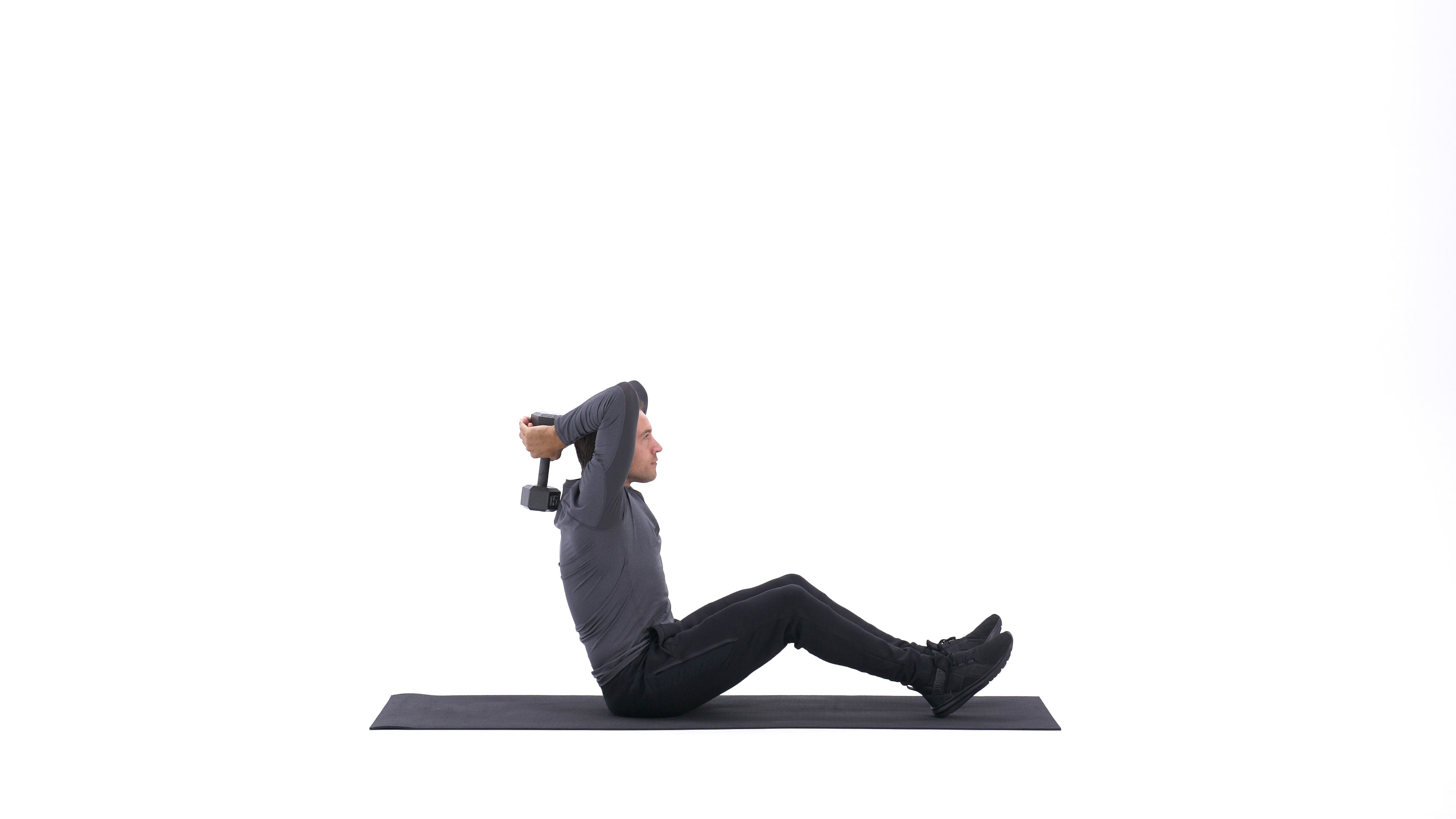 V-sit with overhead triceps extension image