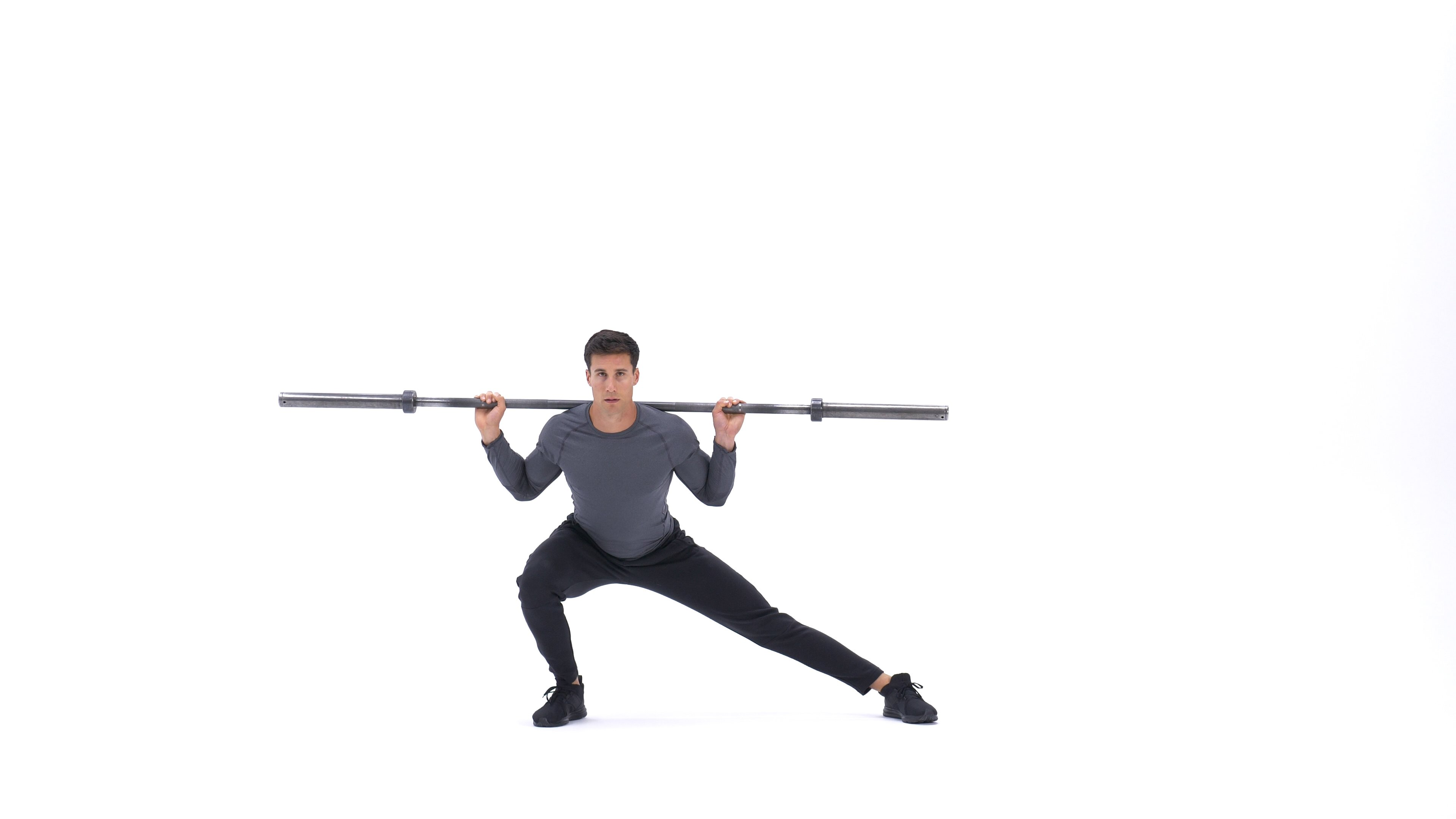 Barbell side split squat image