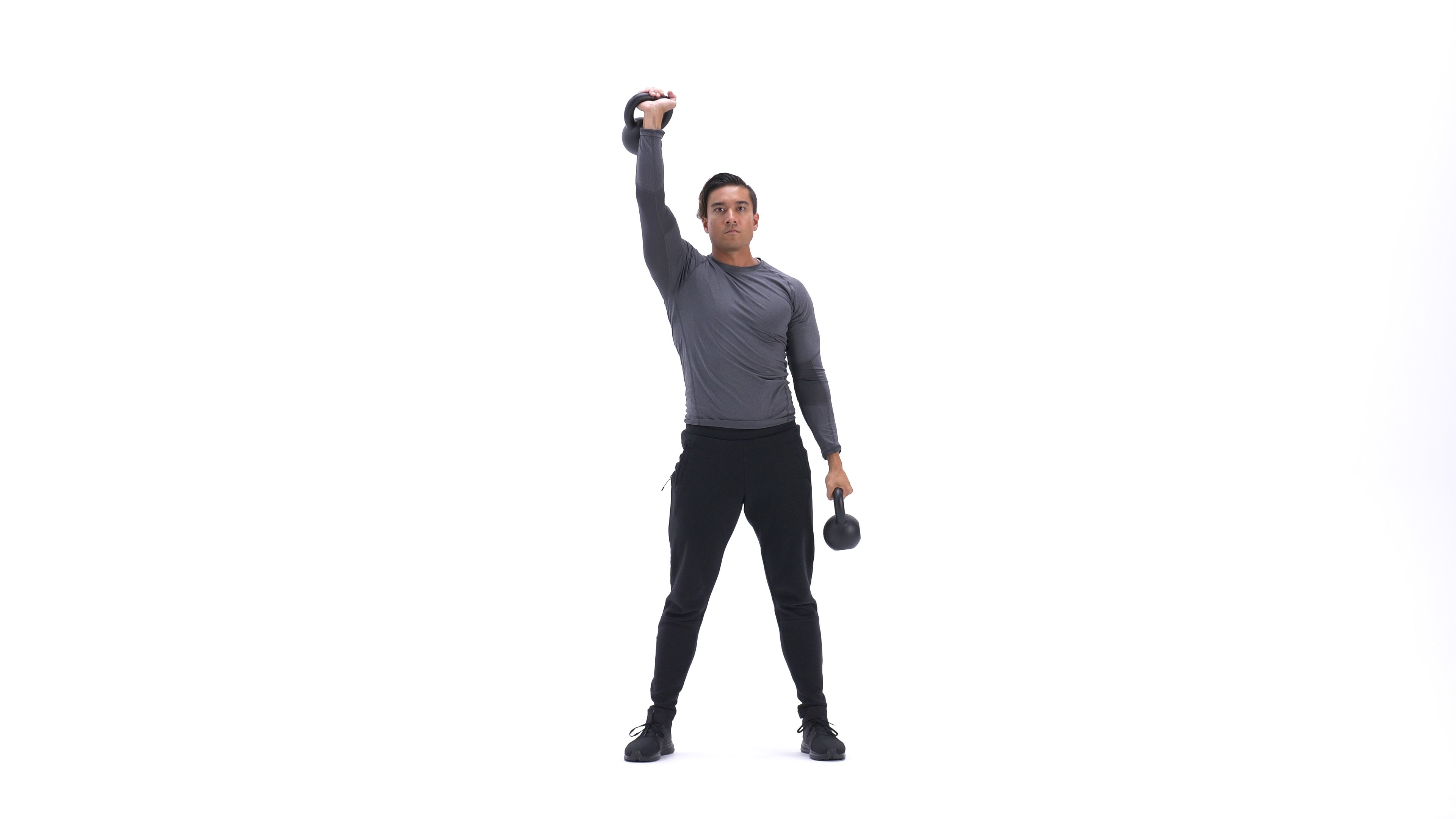 Double-kettlebell windmill image