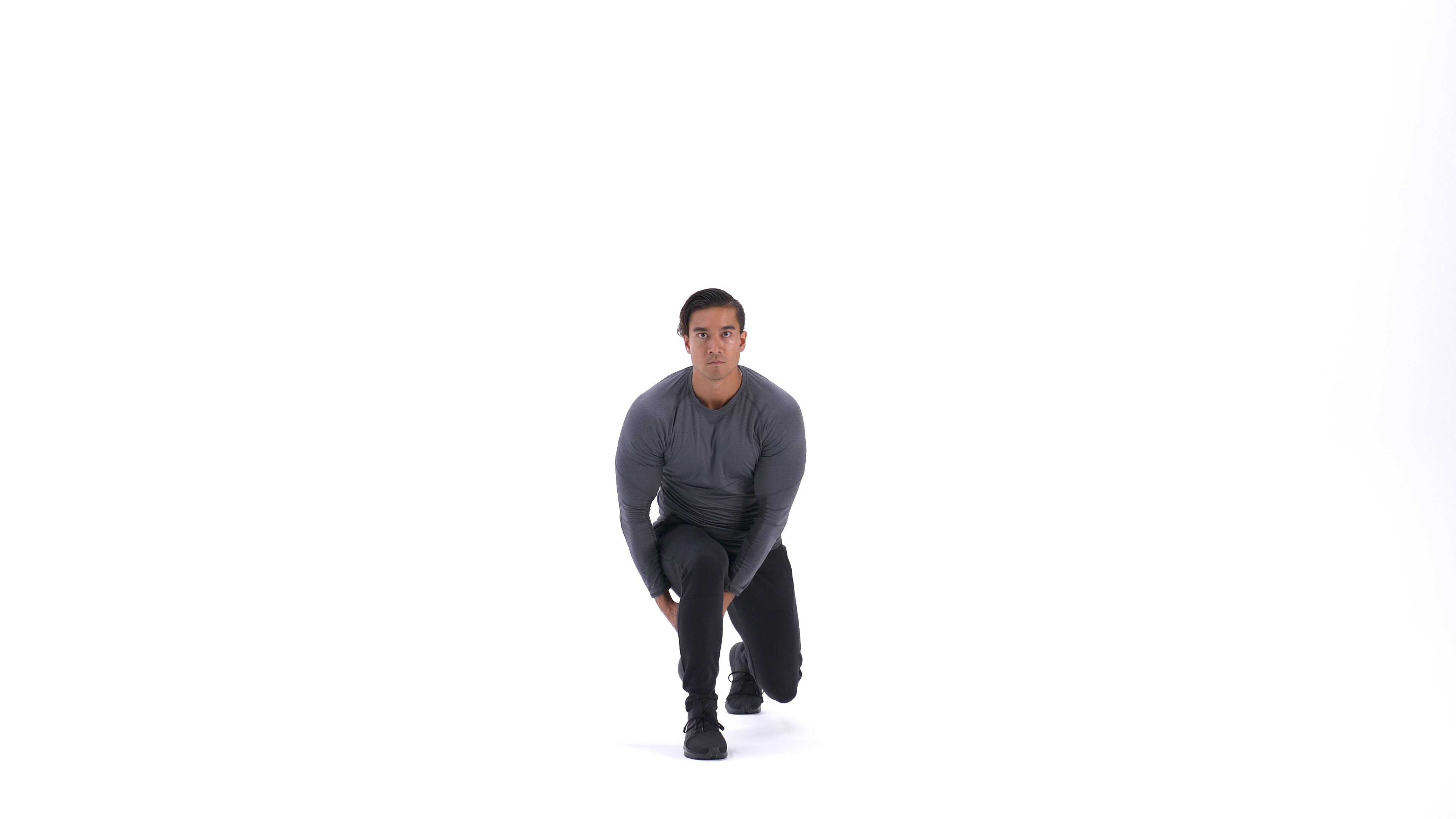 Kettlebell pass-through lunge image