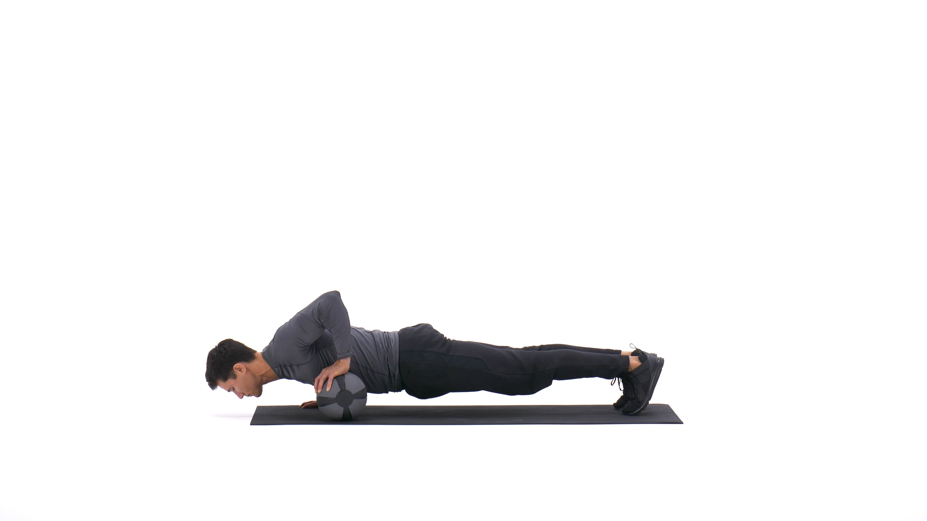 Medicine ball push-up image