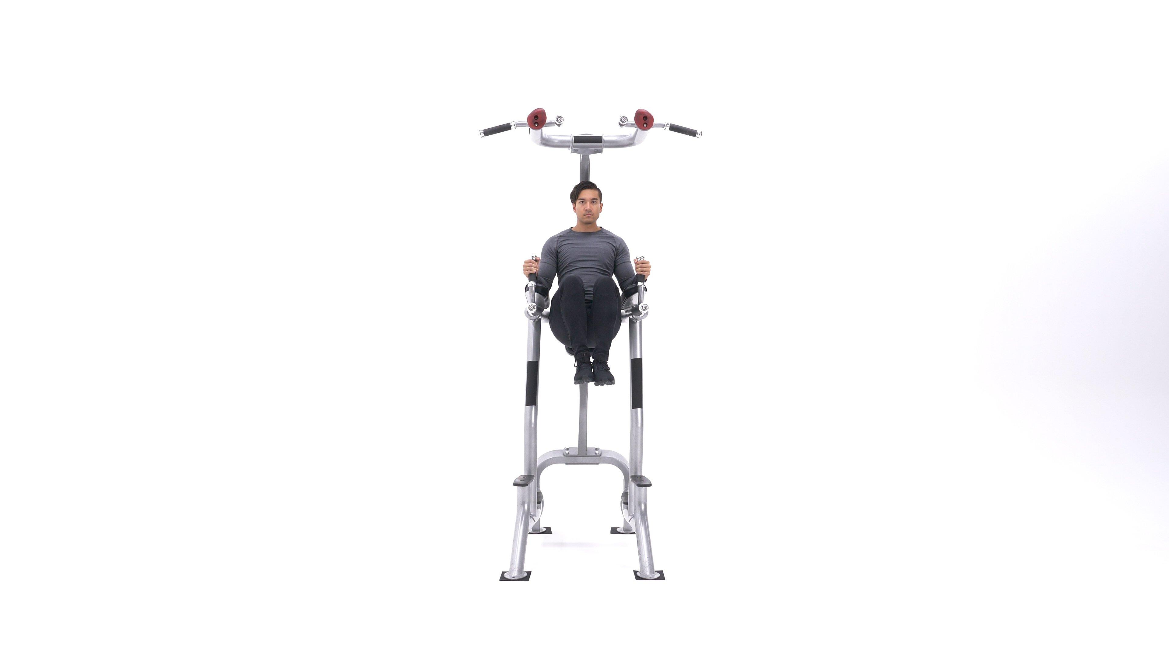 Captain's chair knee raise image