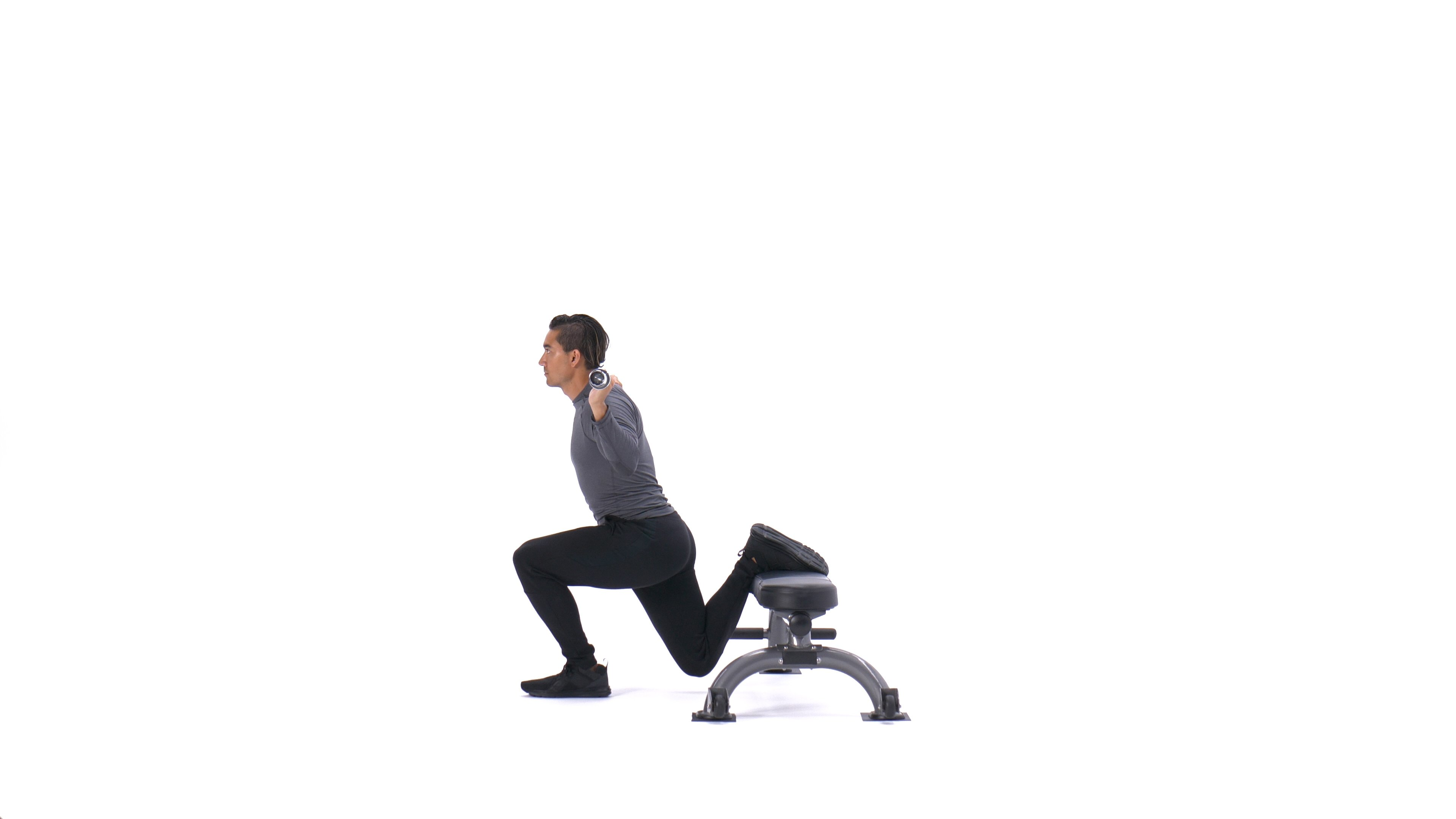 Barbell Bulgarian split squat image