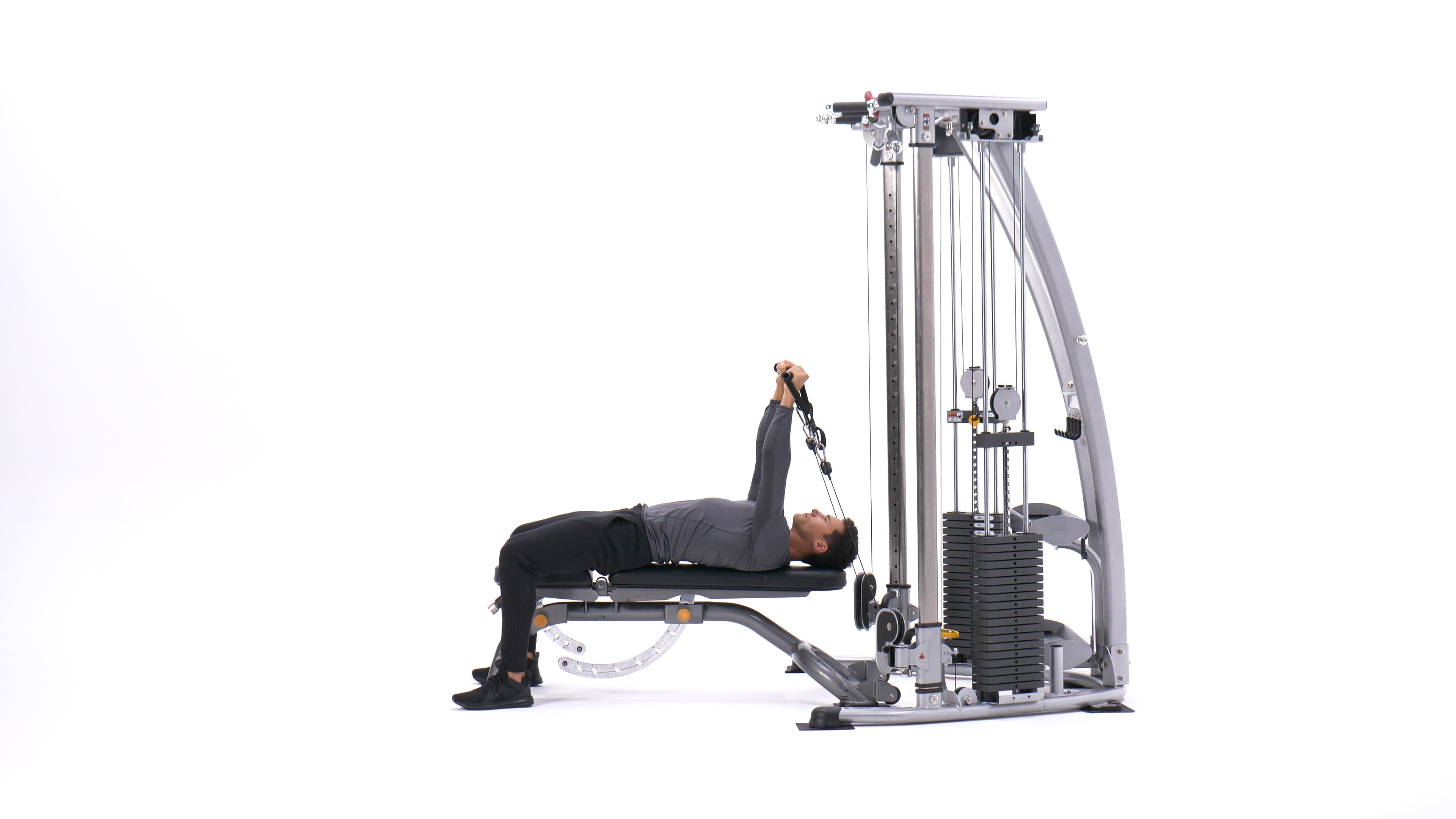 Lying cable triceps extension image