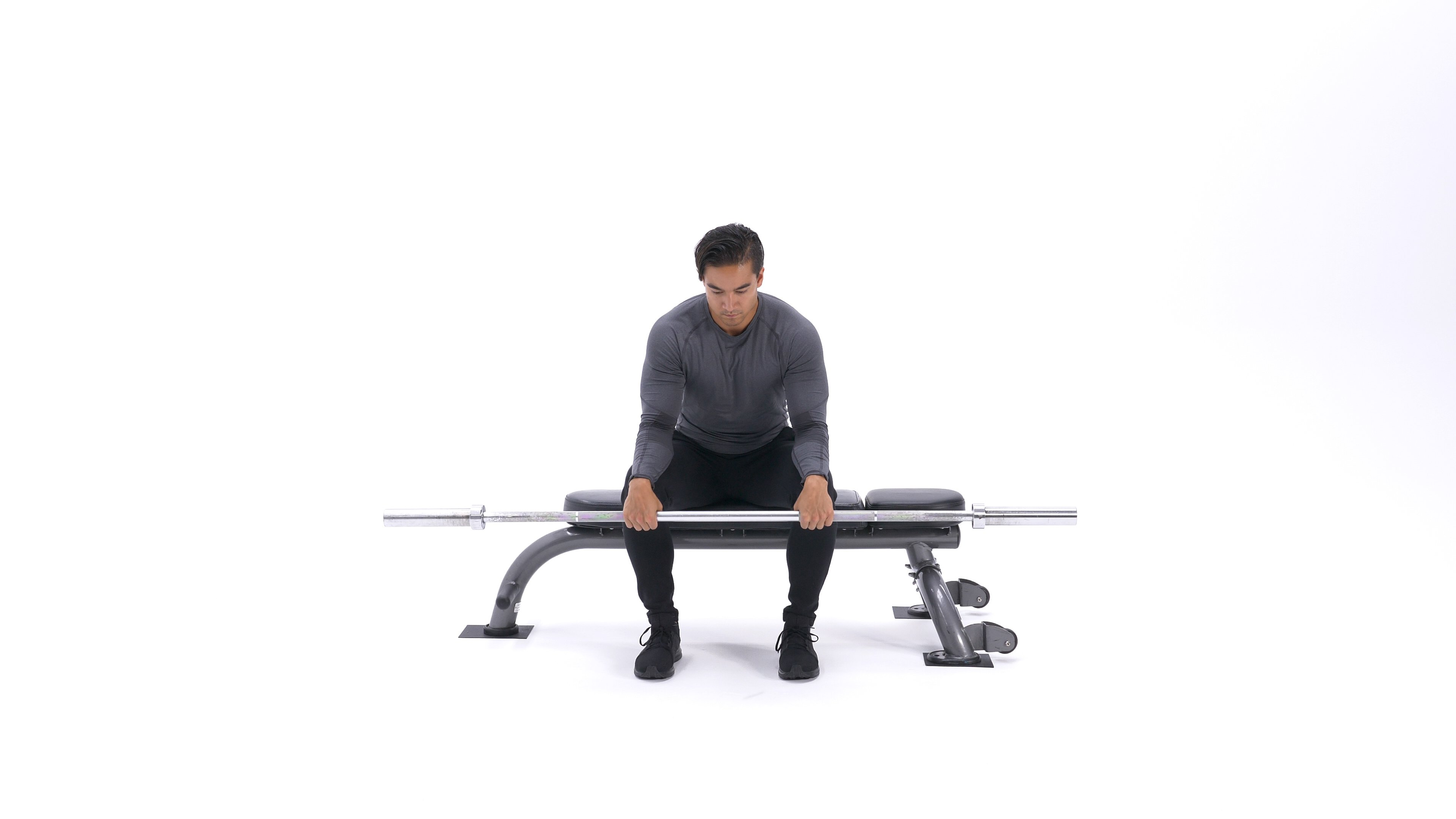 Seated palms-down wrist curl- image