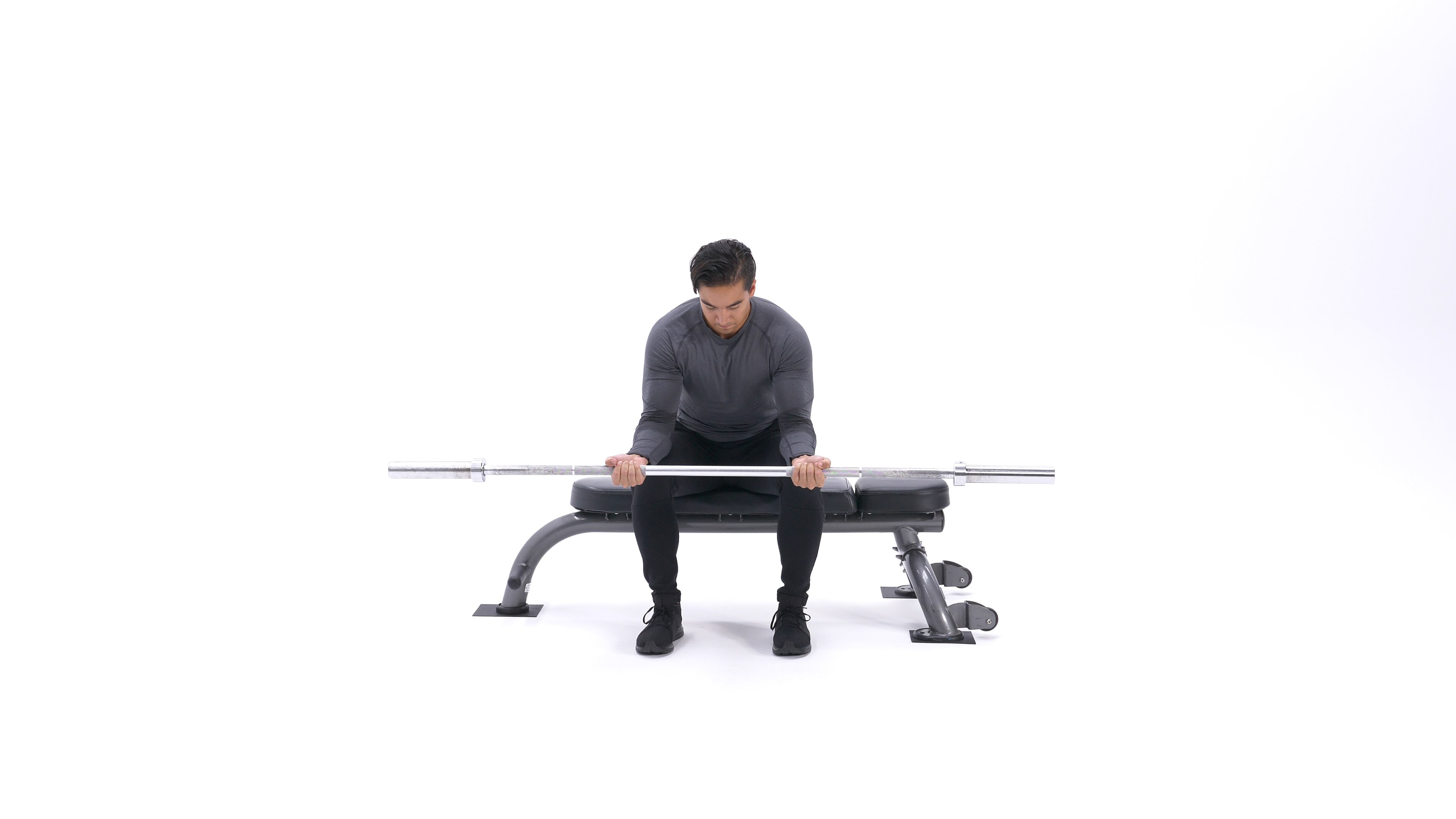 Seated Palm-Up Barbell Wrist Curl image