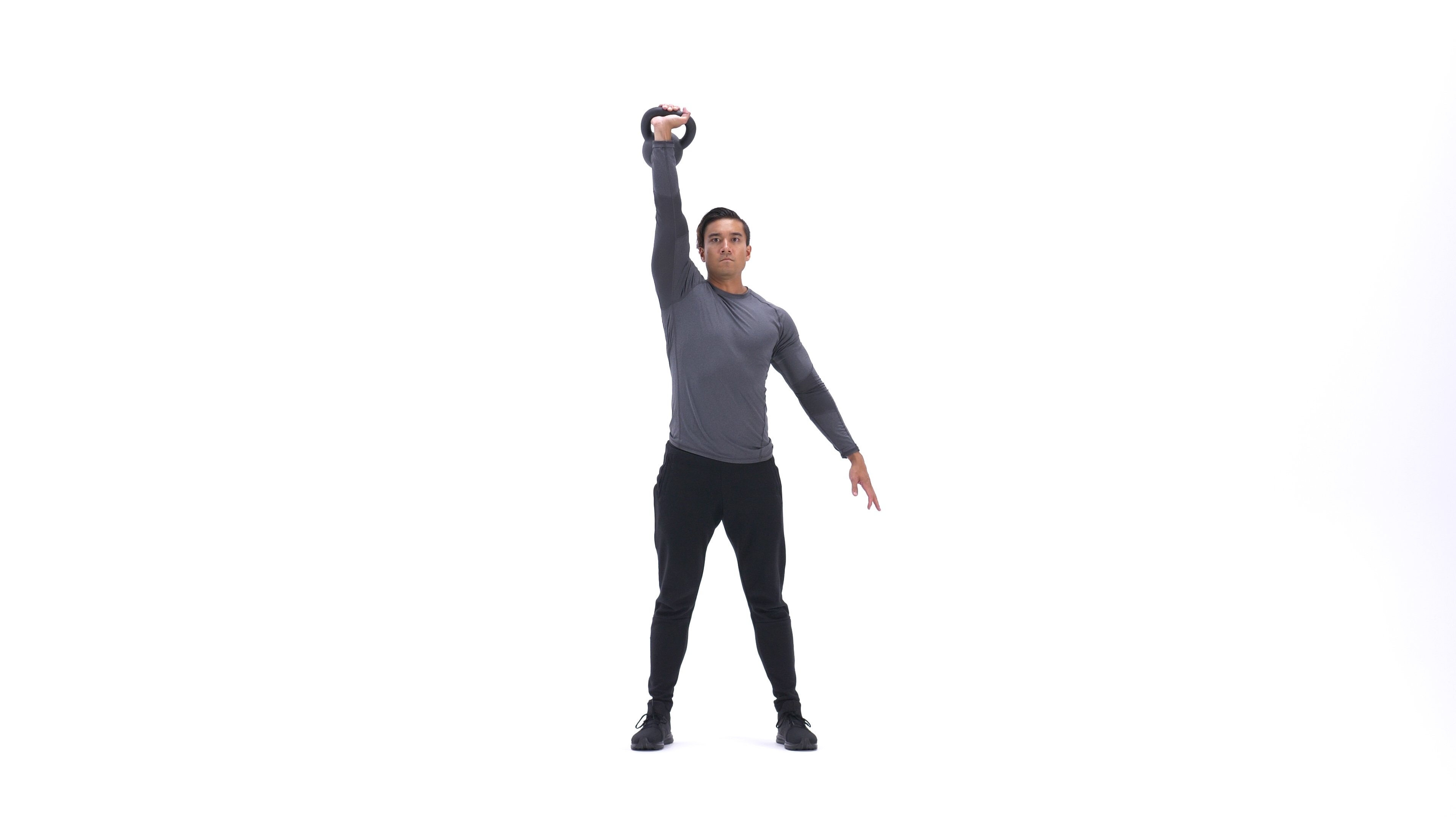 Single-arm kettlebell push-press image