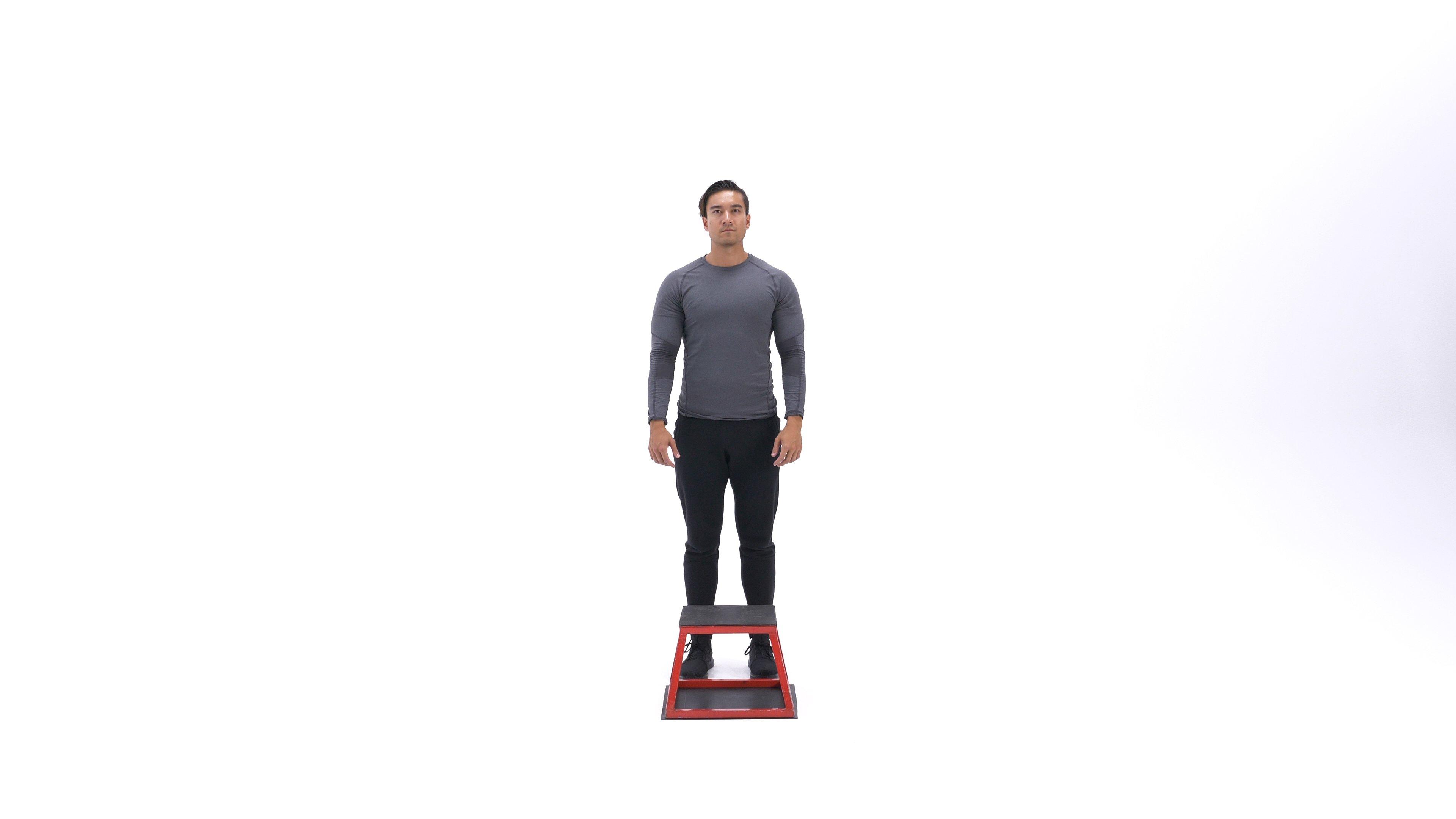 Single-leg depth squat image