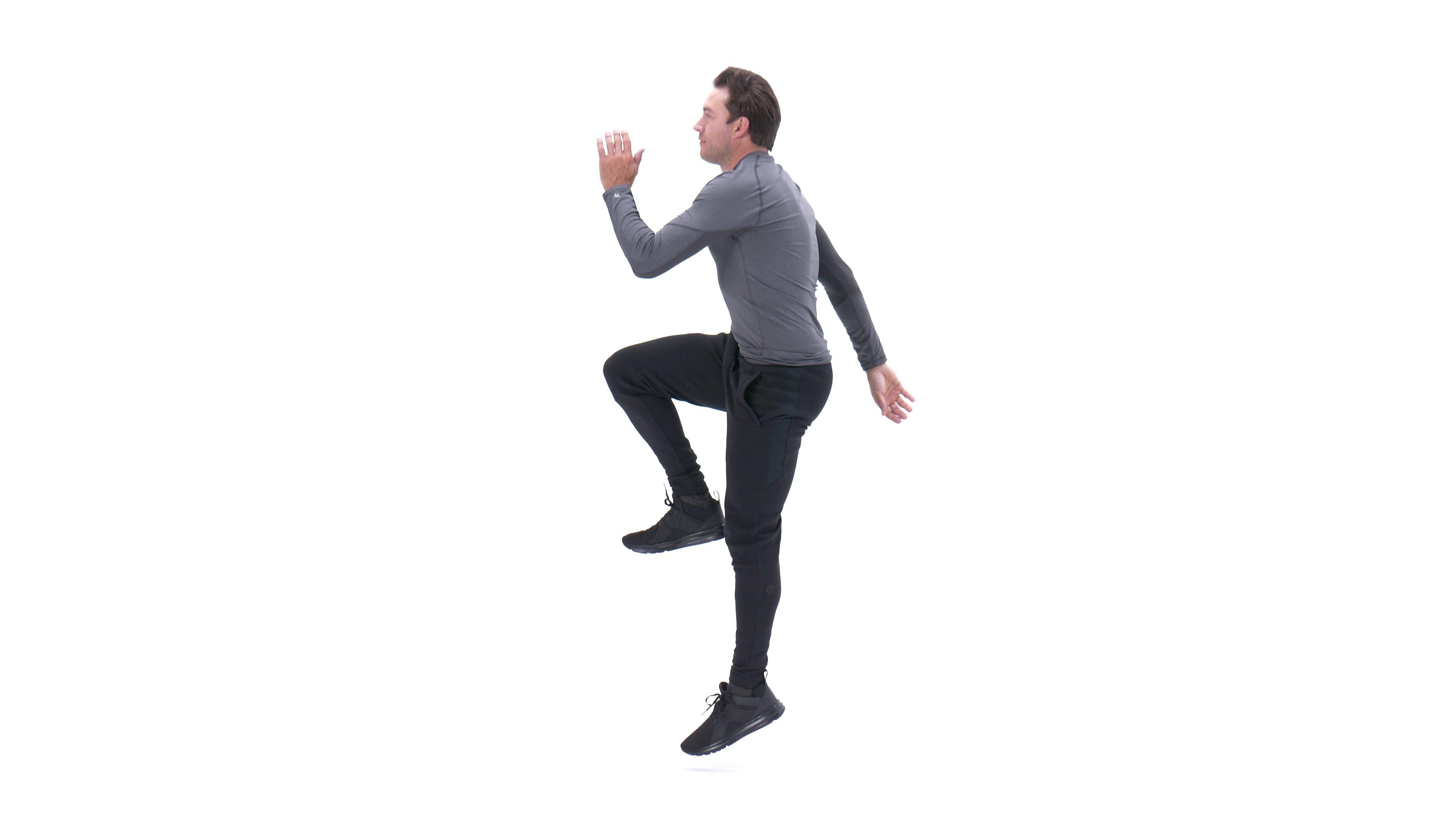 Running lunge image