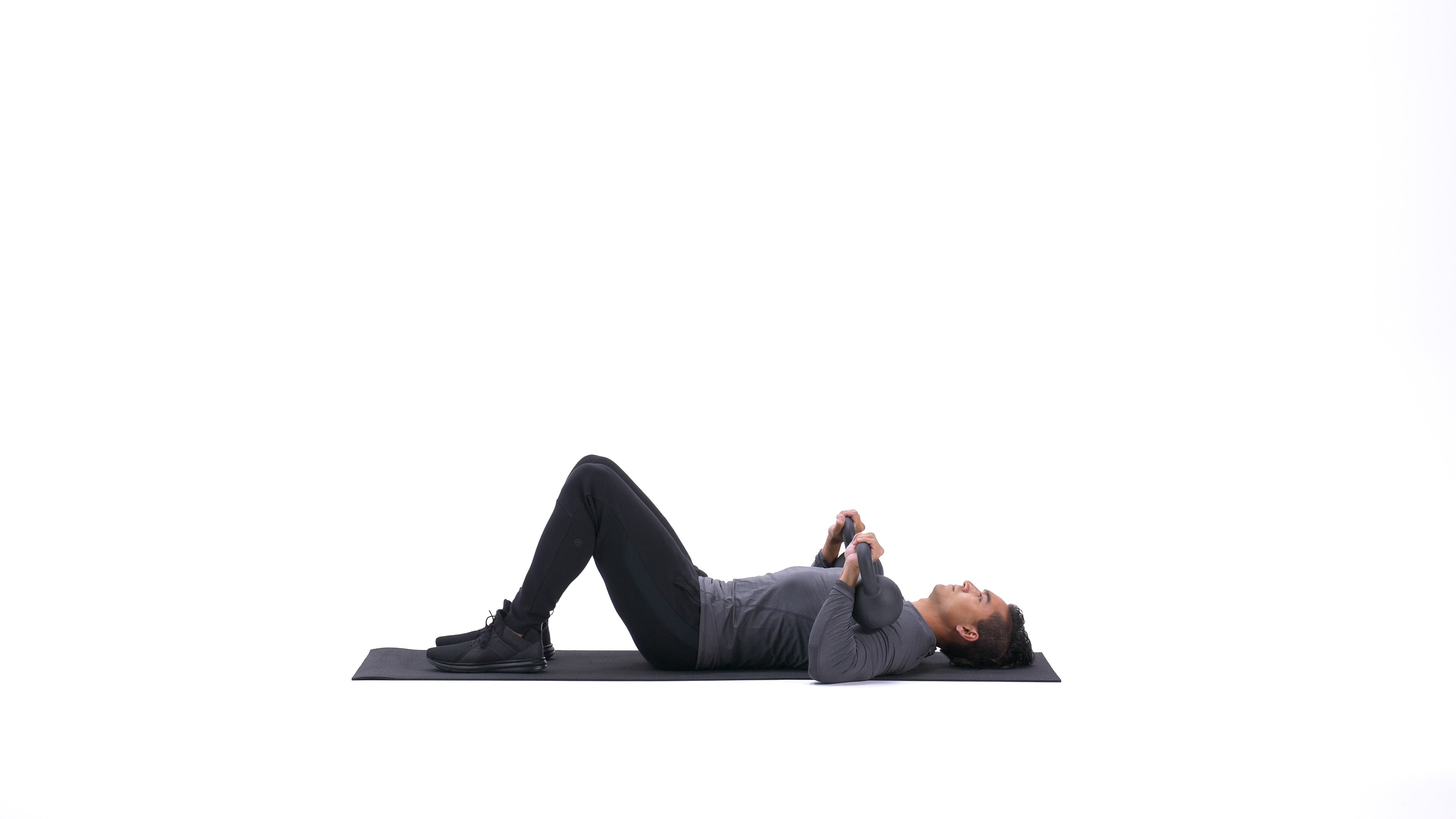 Kettlebell alternating floor press image