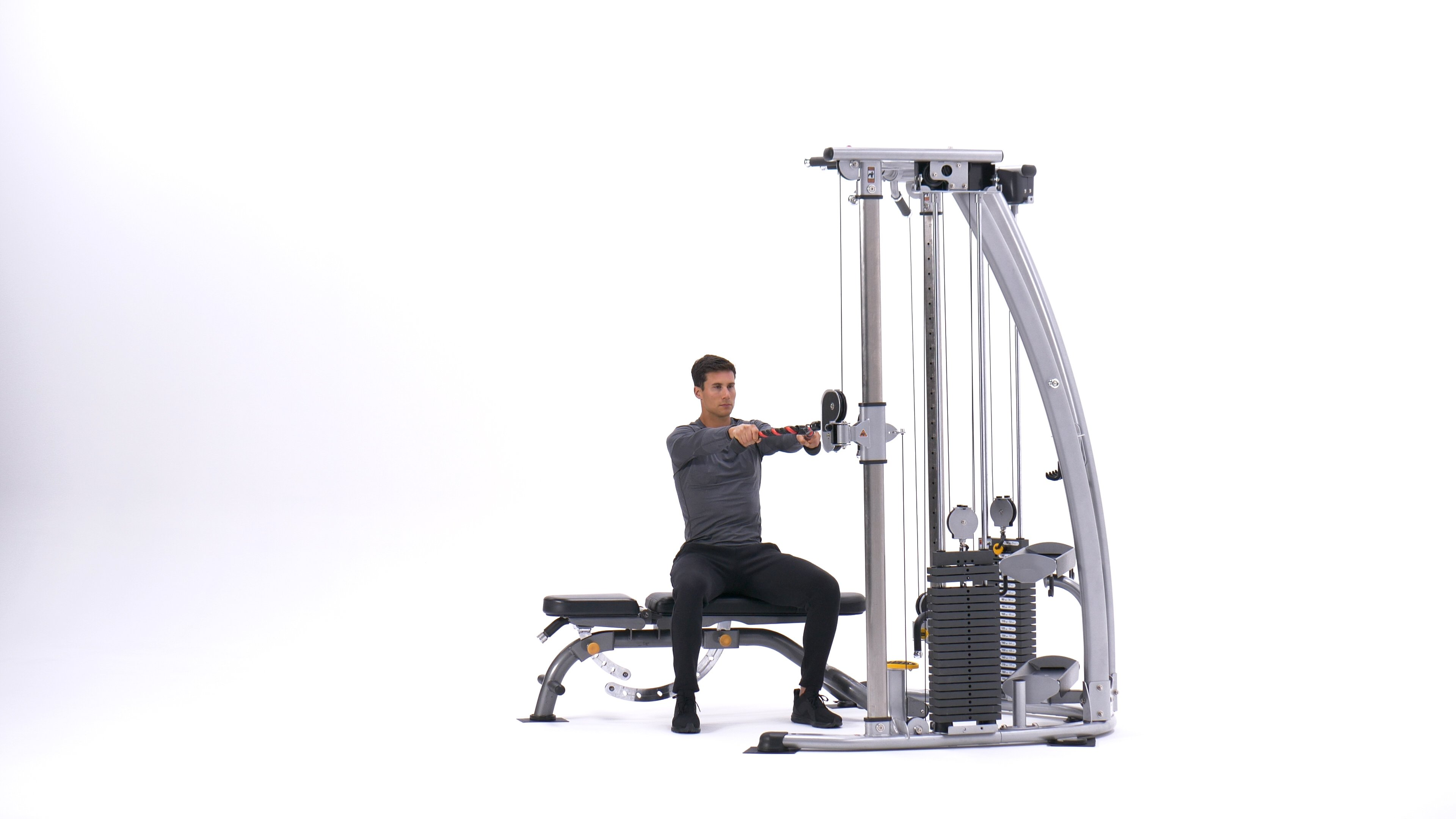 Seated face pull image