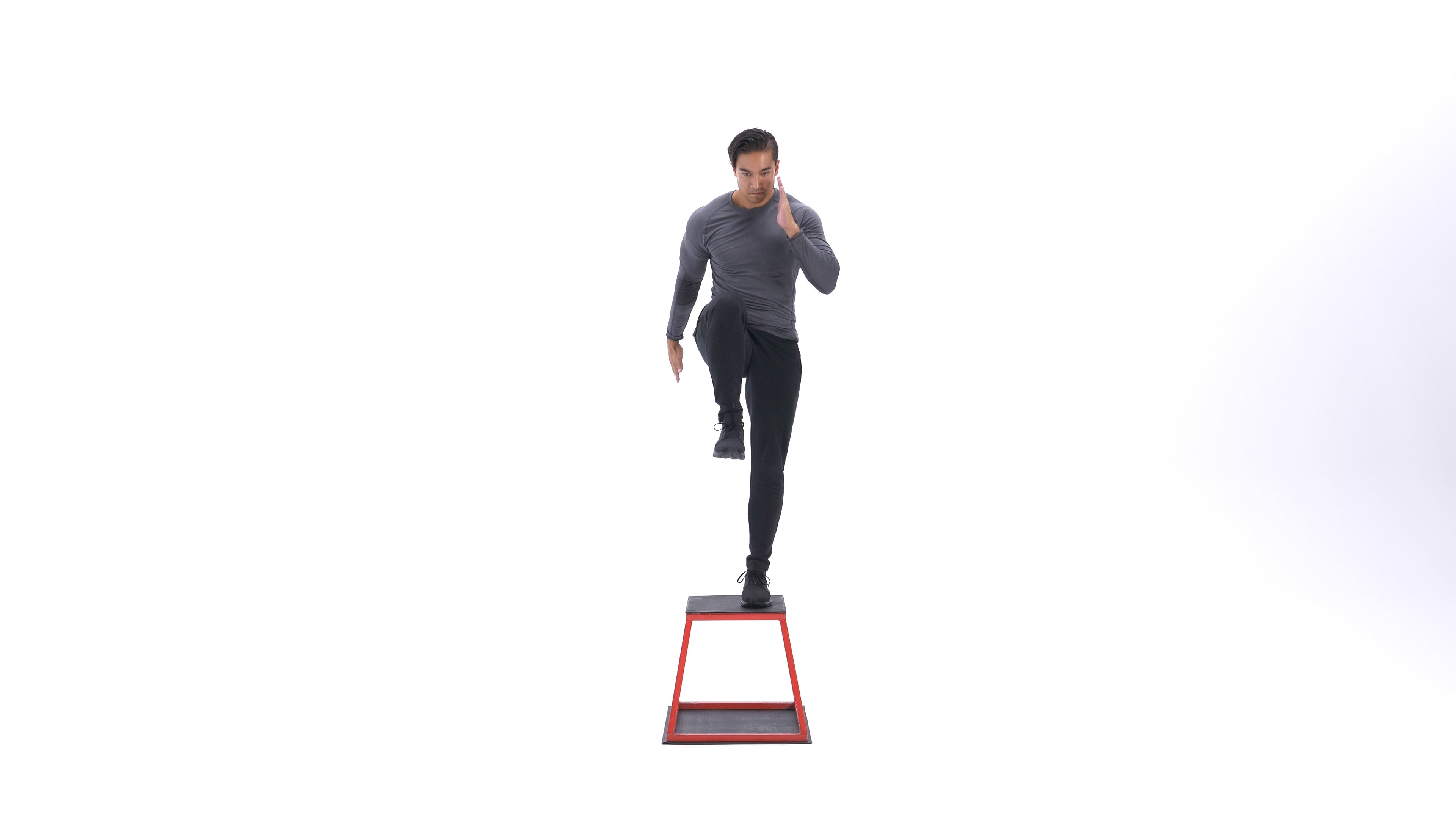 Step-up with knee raise image