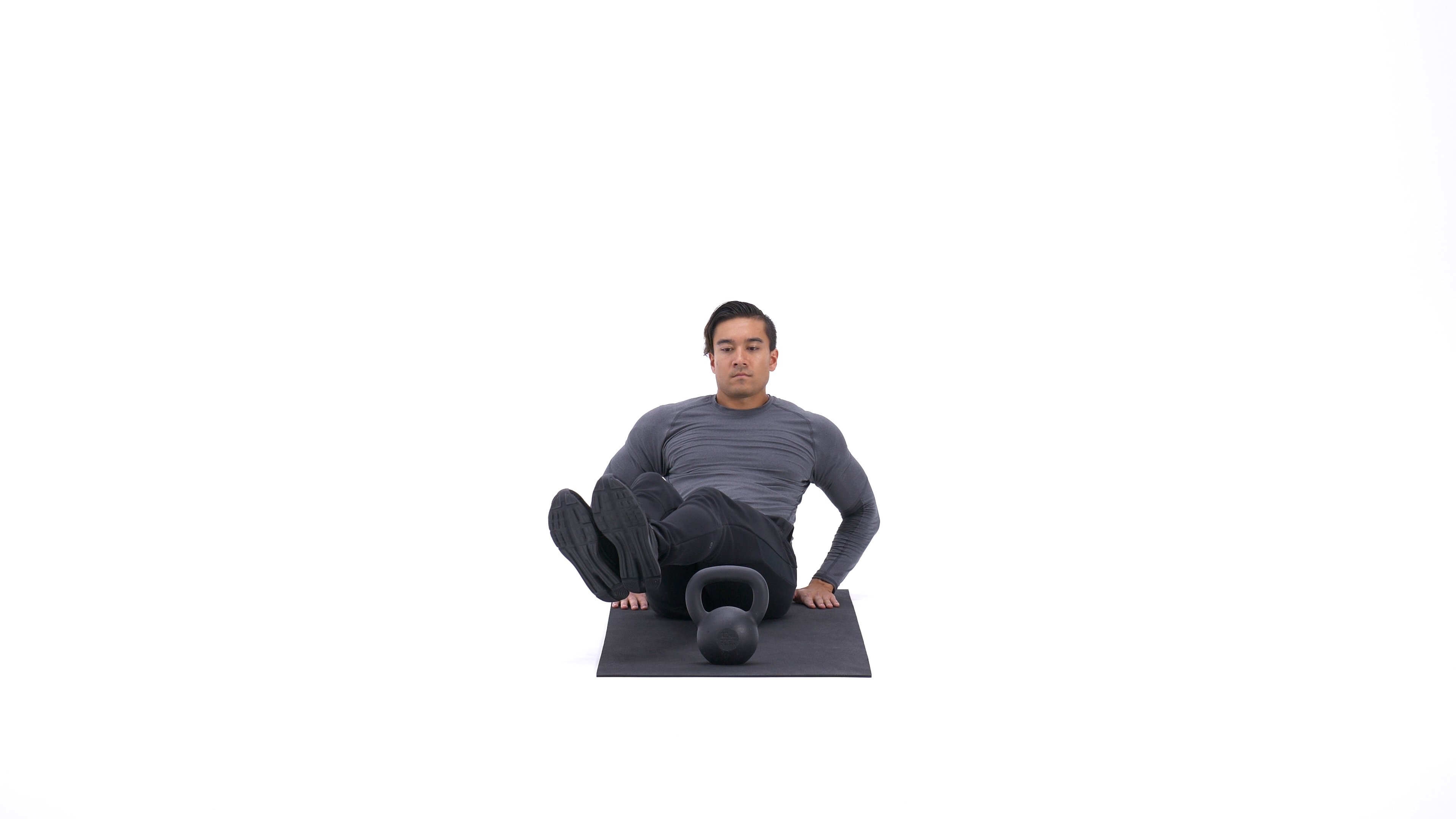 Kettlebell 3-point leg extension image