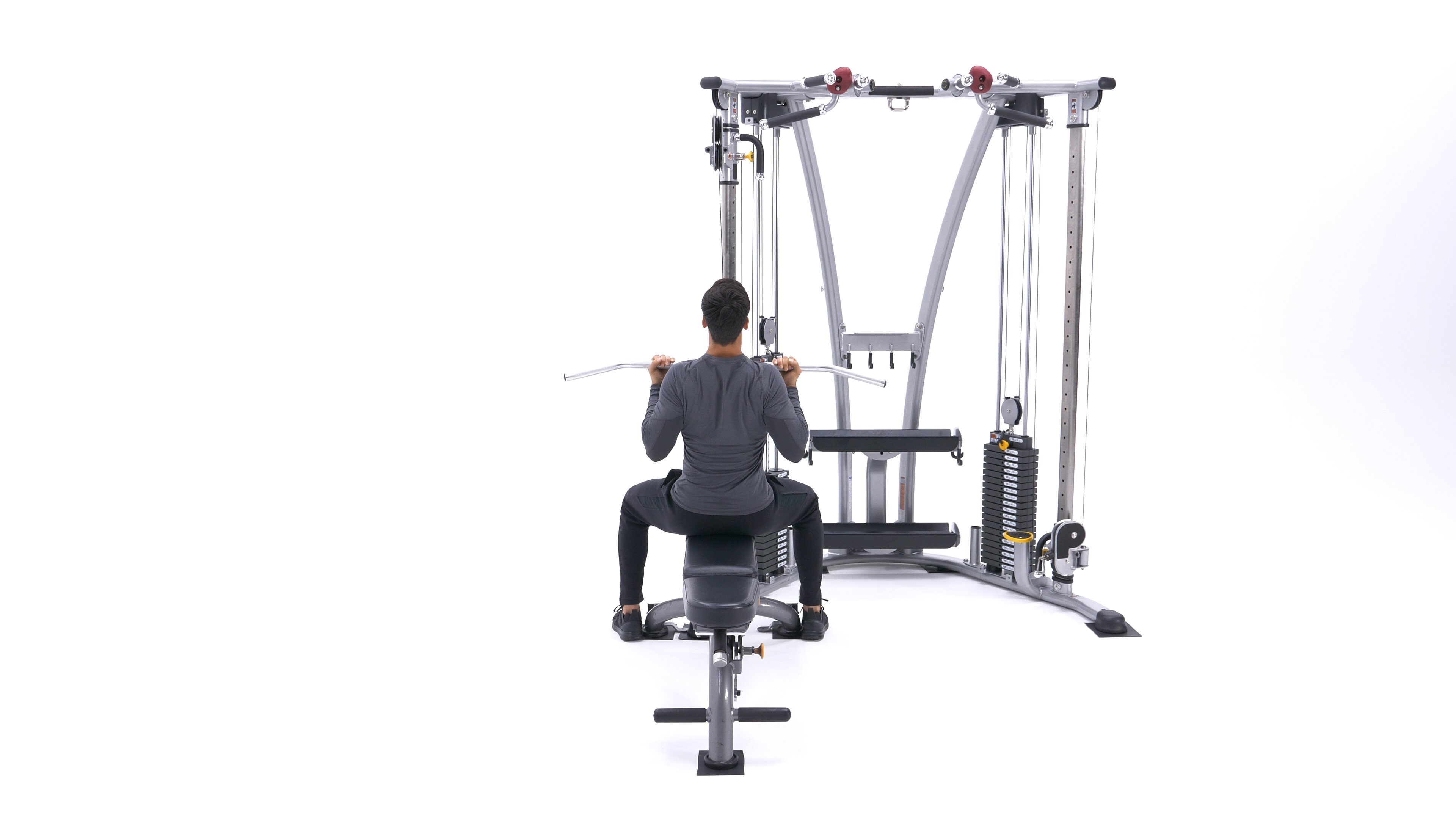 Reverse-grip lat pull-down image