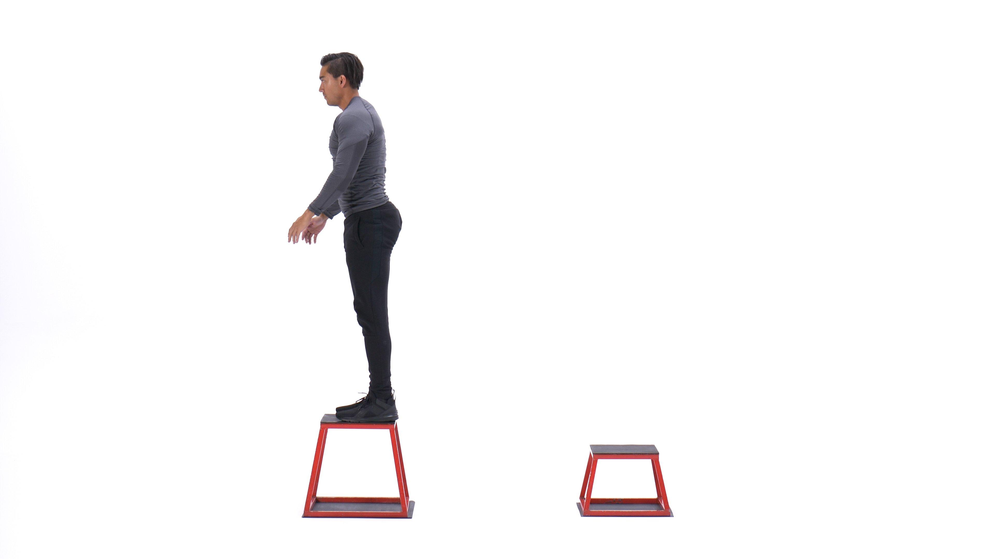 Depth jump box jump image