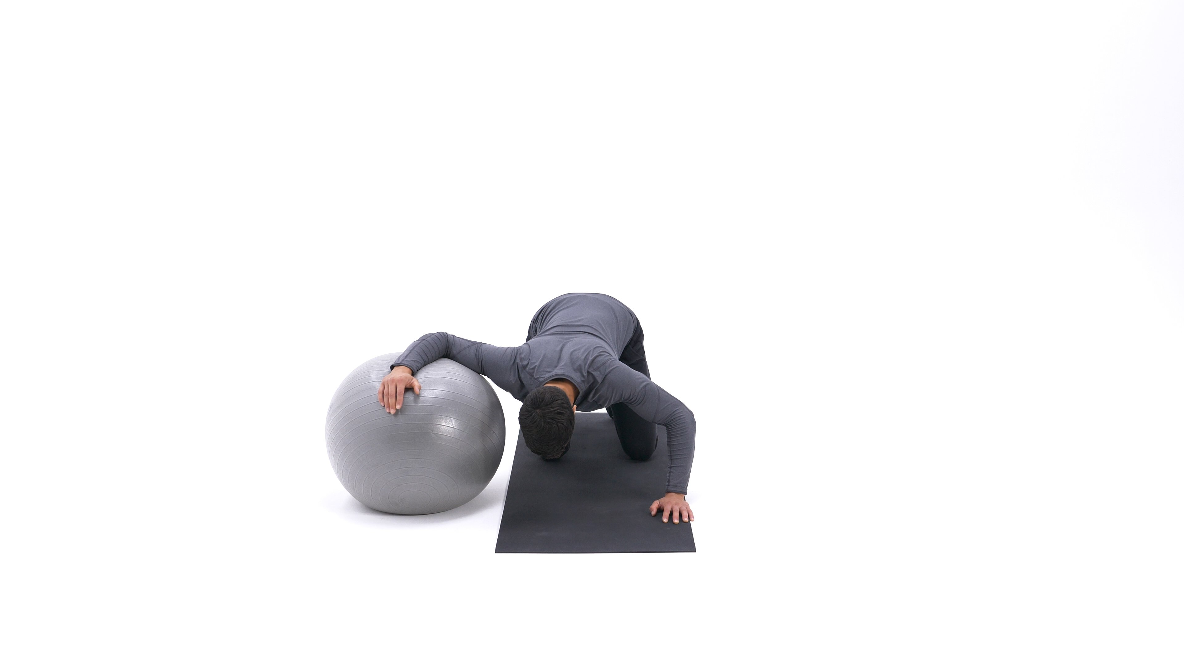 Exercise ball chest stretch image