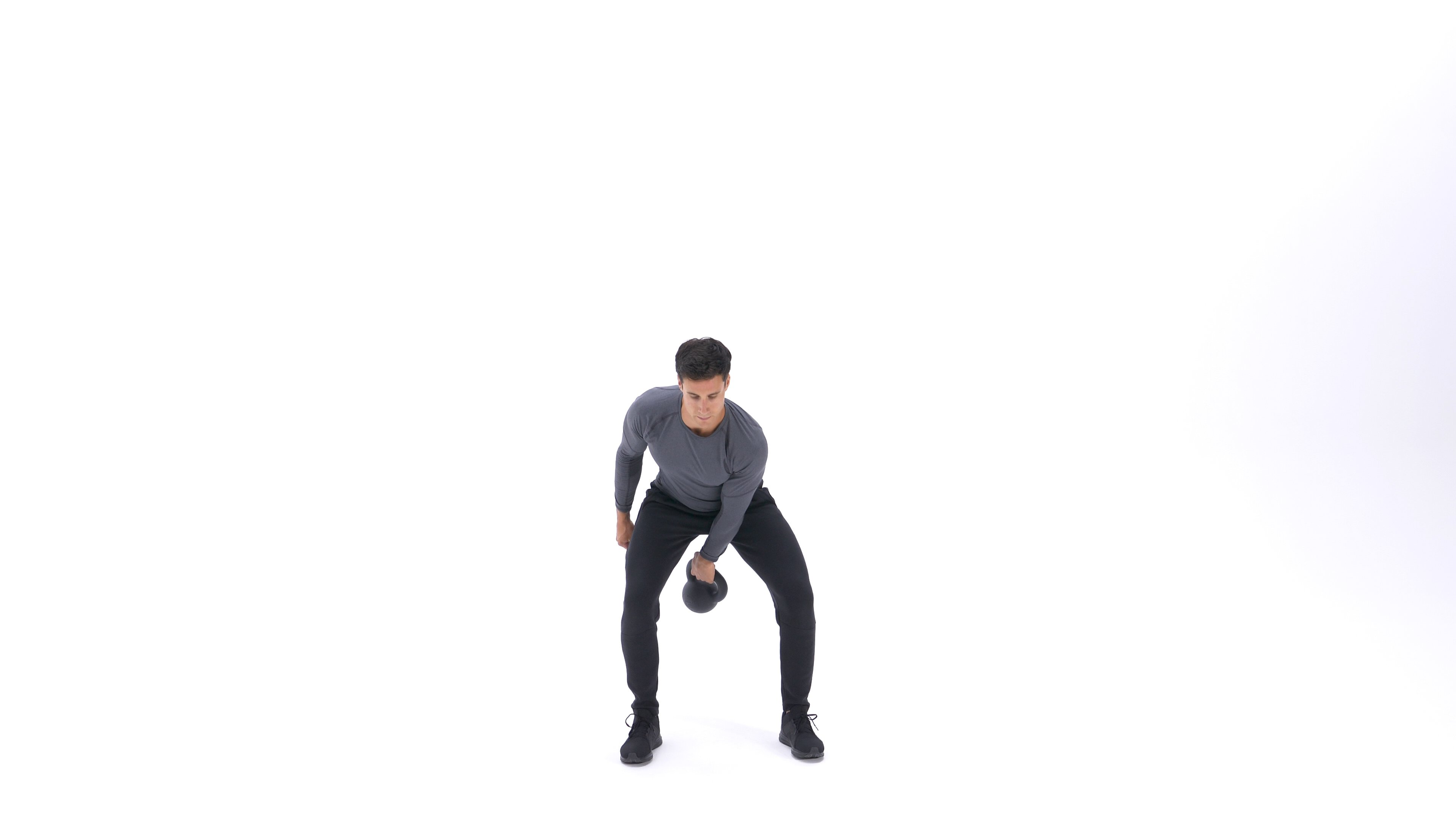 Single-arm kettlebell snatch image