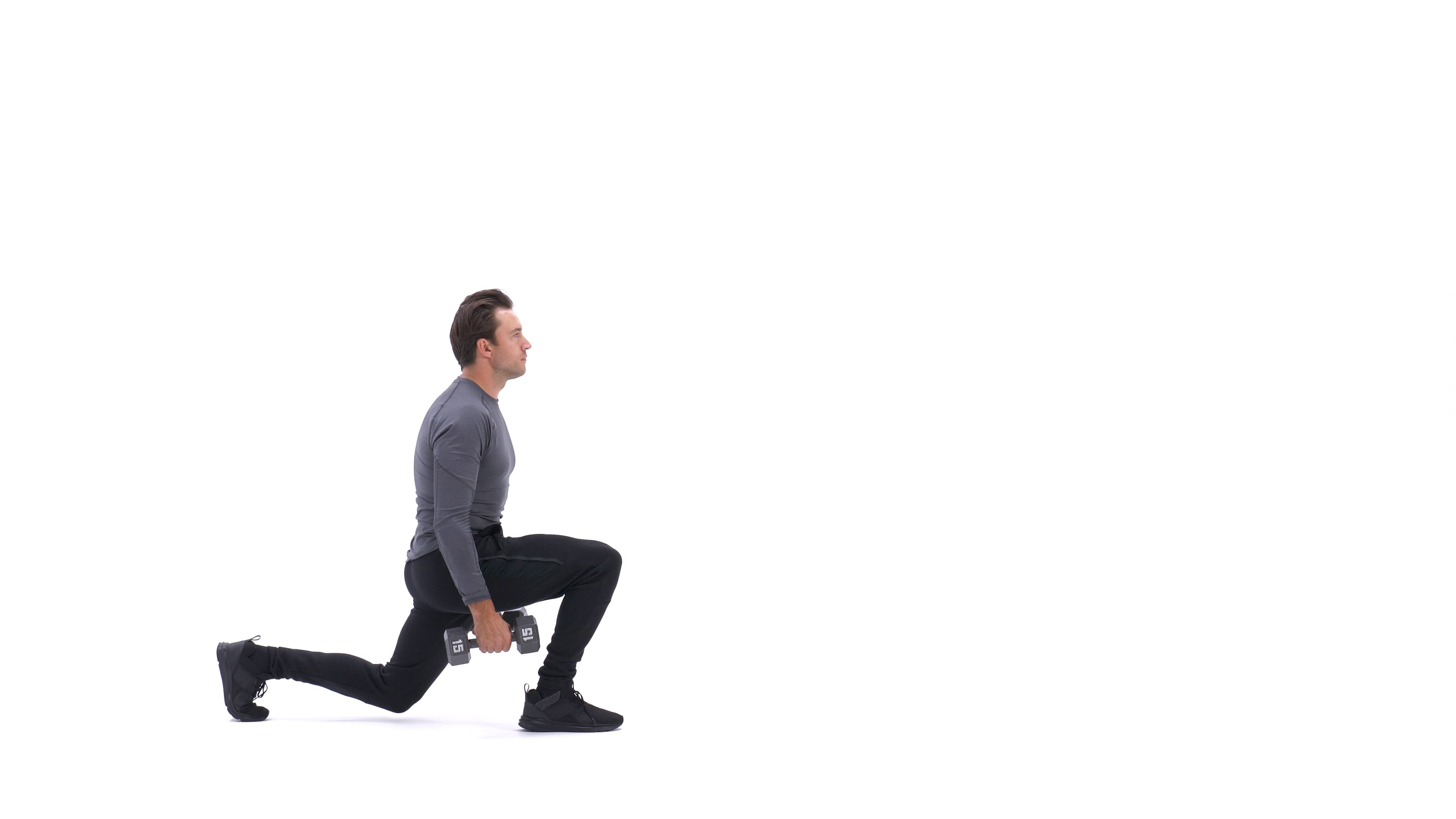 Dumbbell walking lunge- image