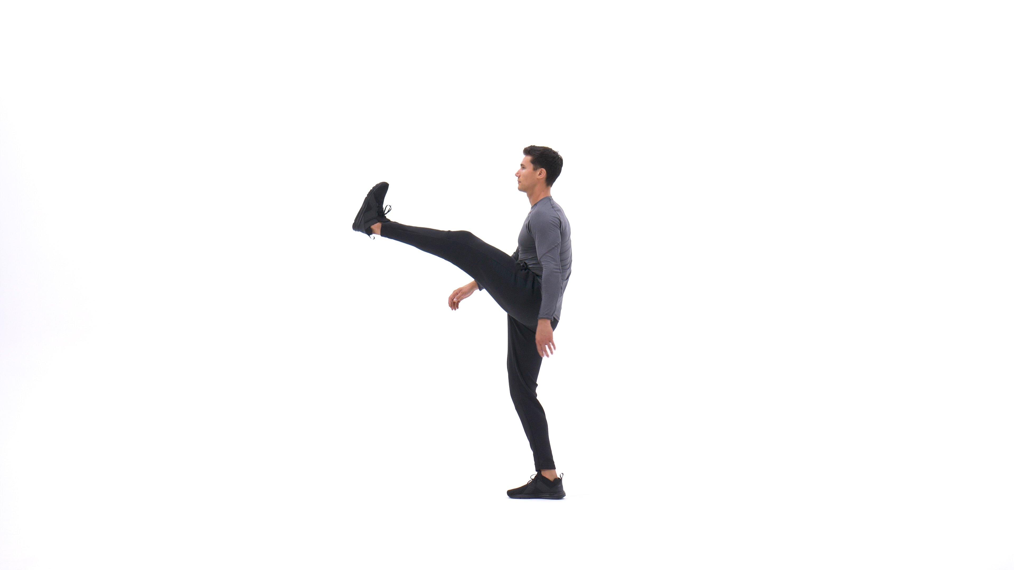 Standing leg swing image