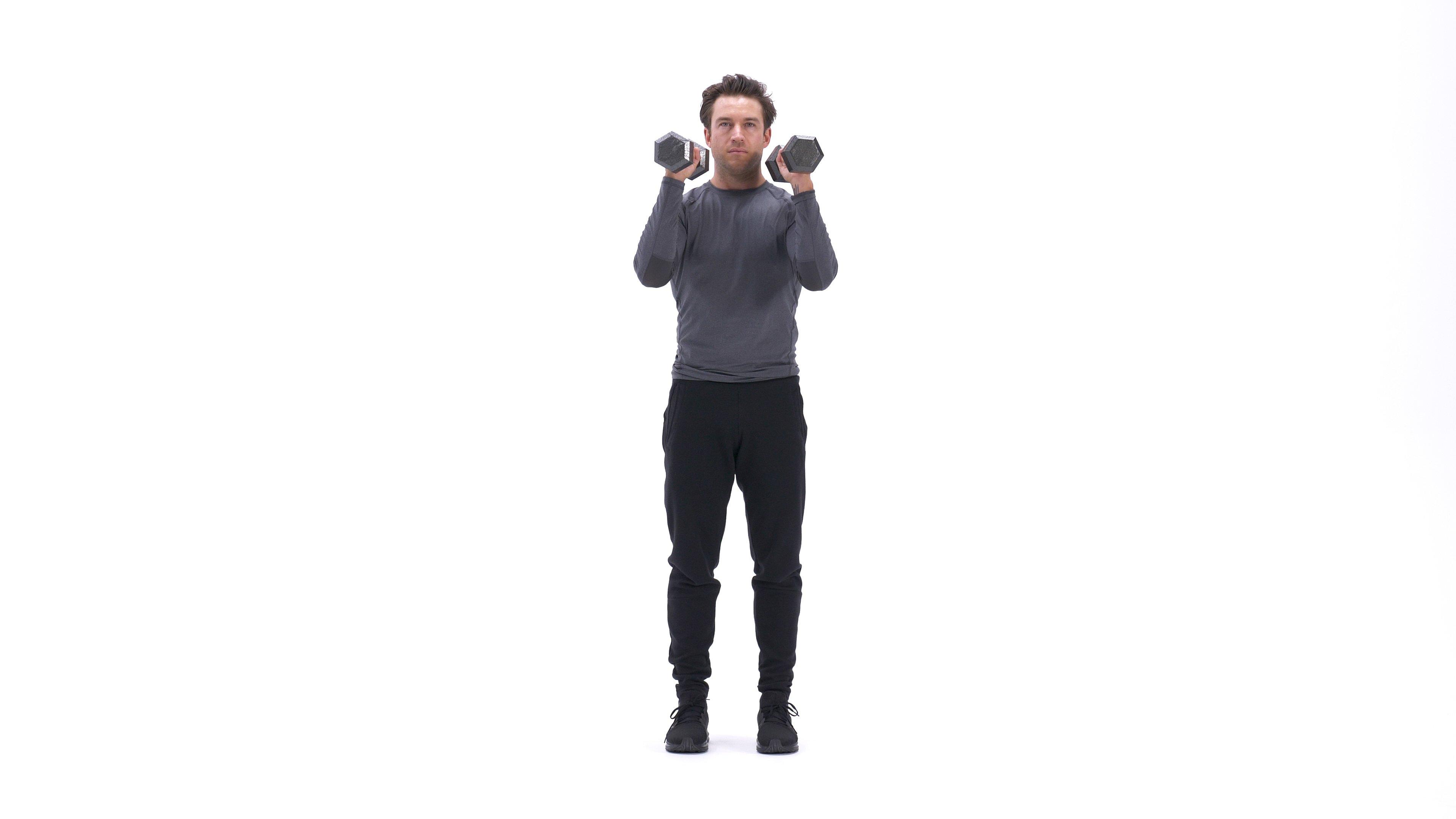 Close-Stance Dumbbell Front Squat image