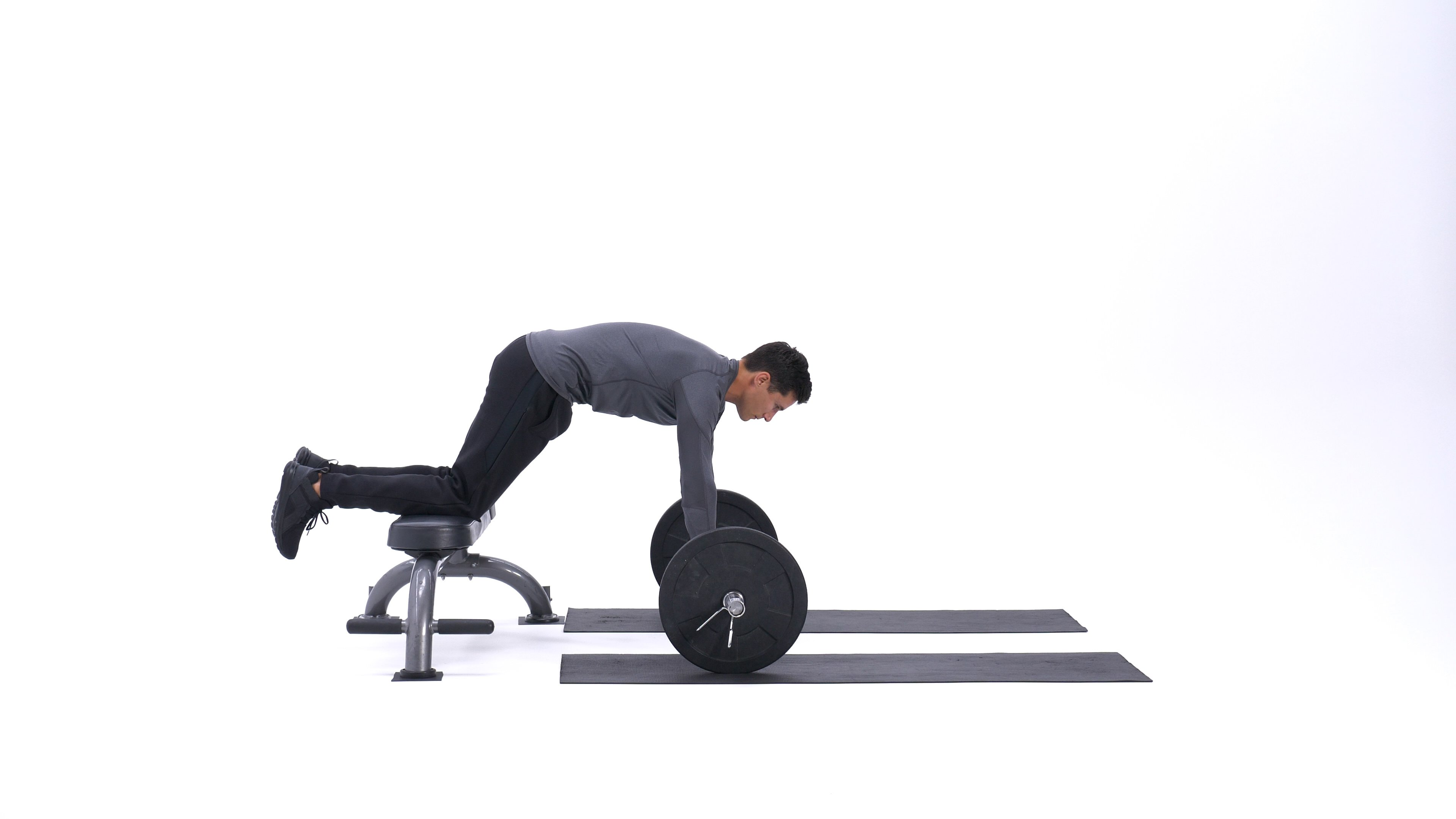 Bench barbell roll-out image