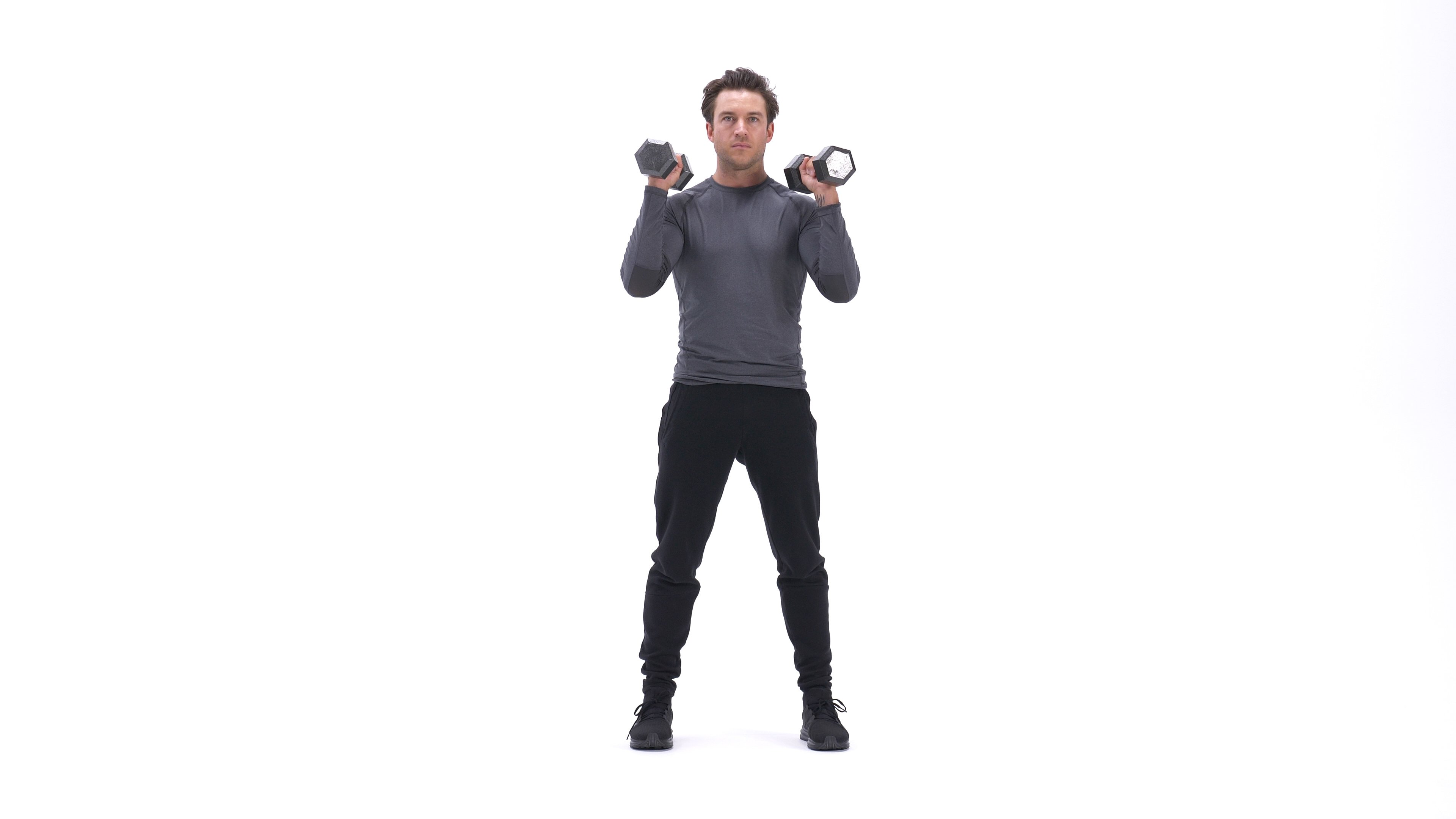 Dumbbell front squat image