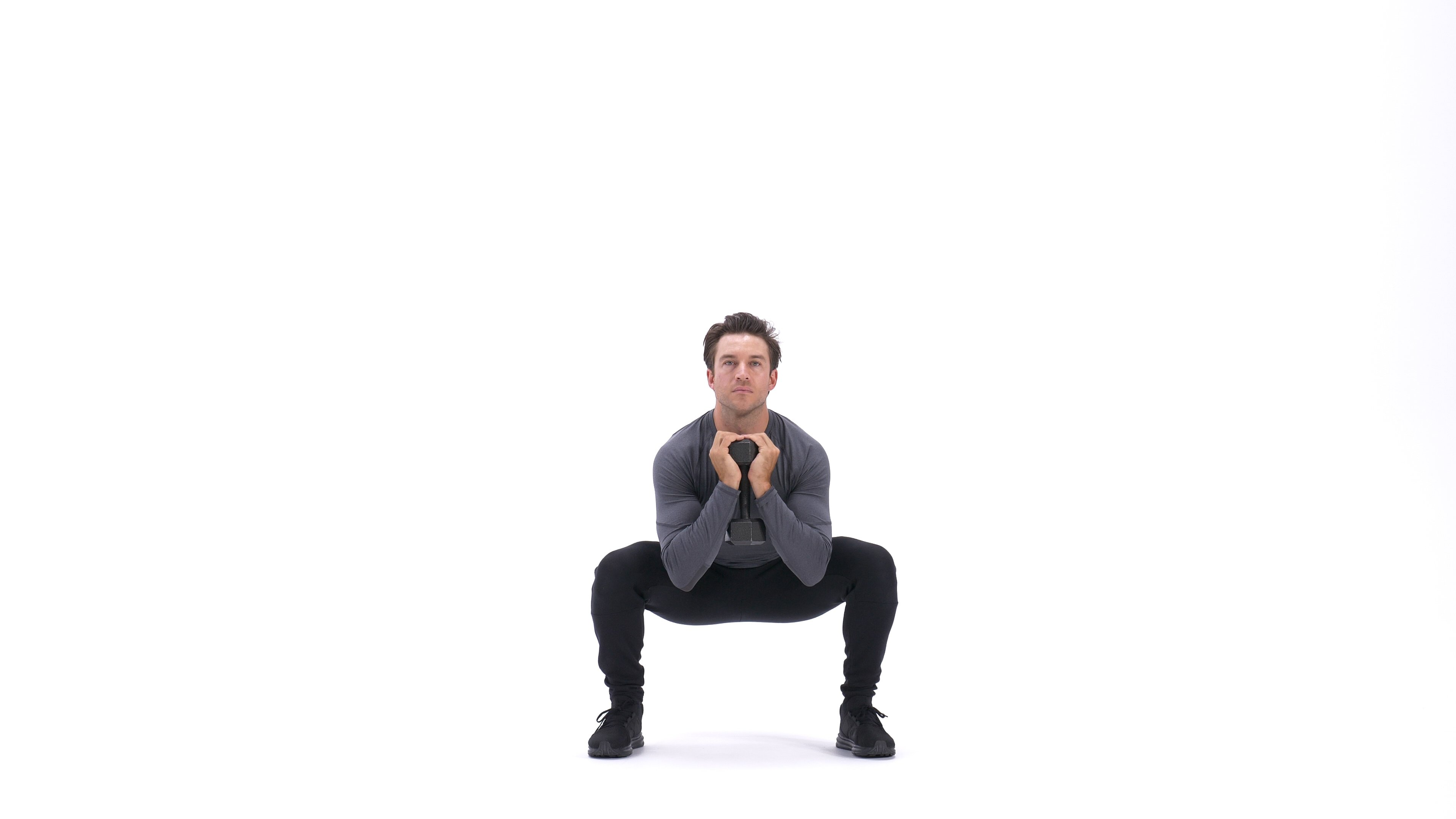 Dumbbell Goblet Squat image