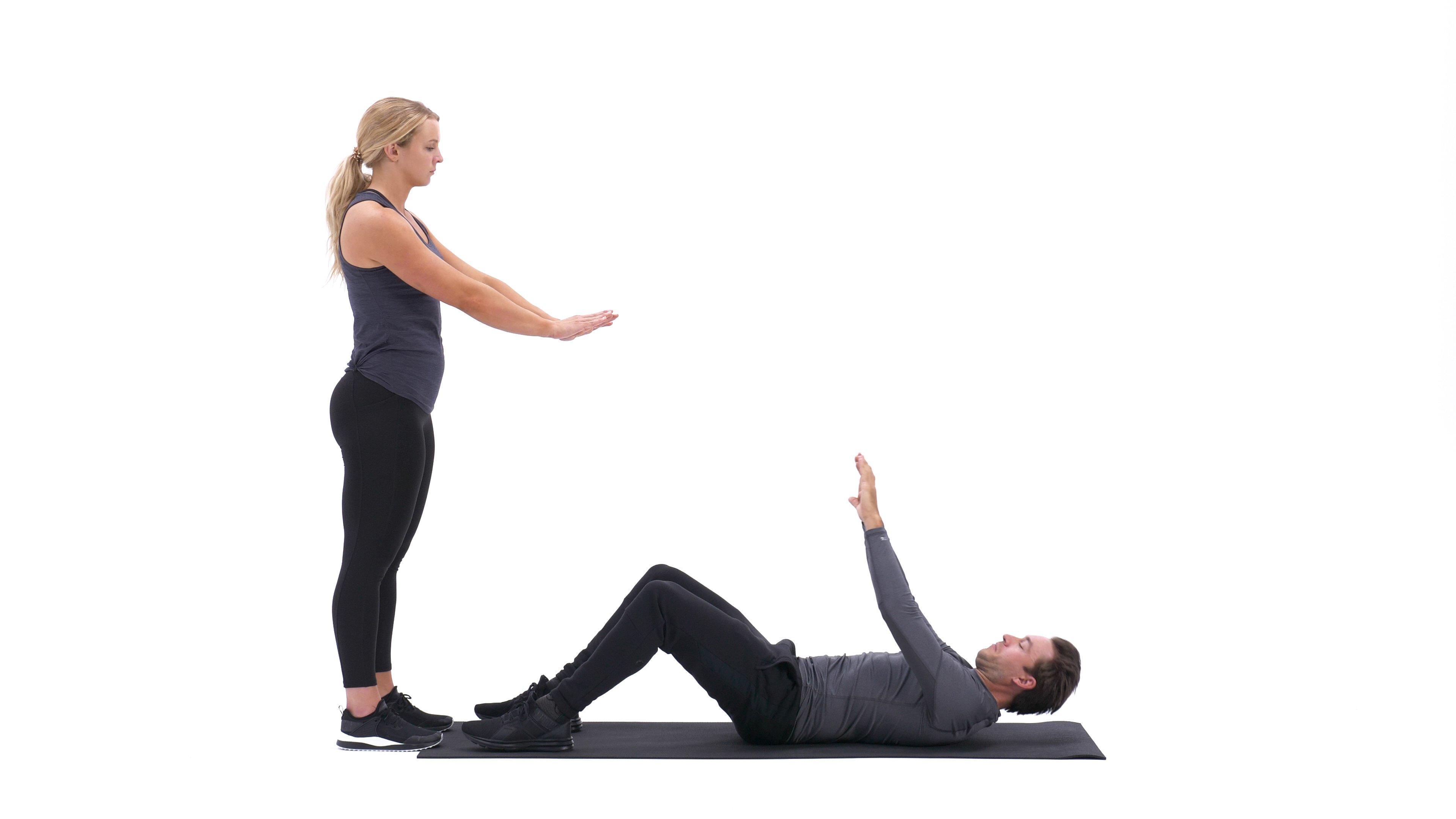 Partner target sit-up image