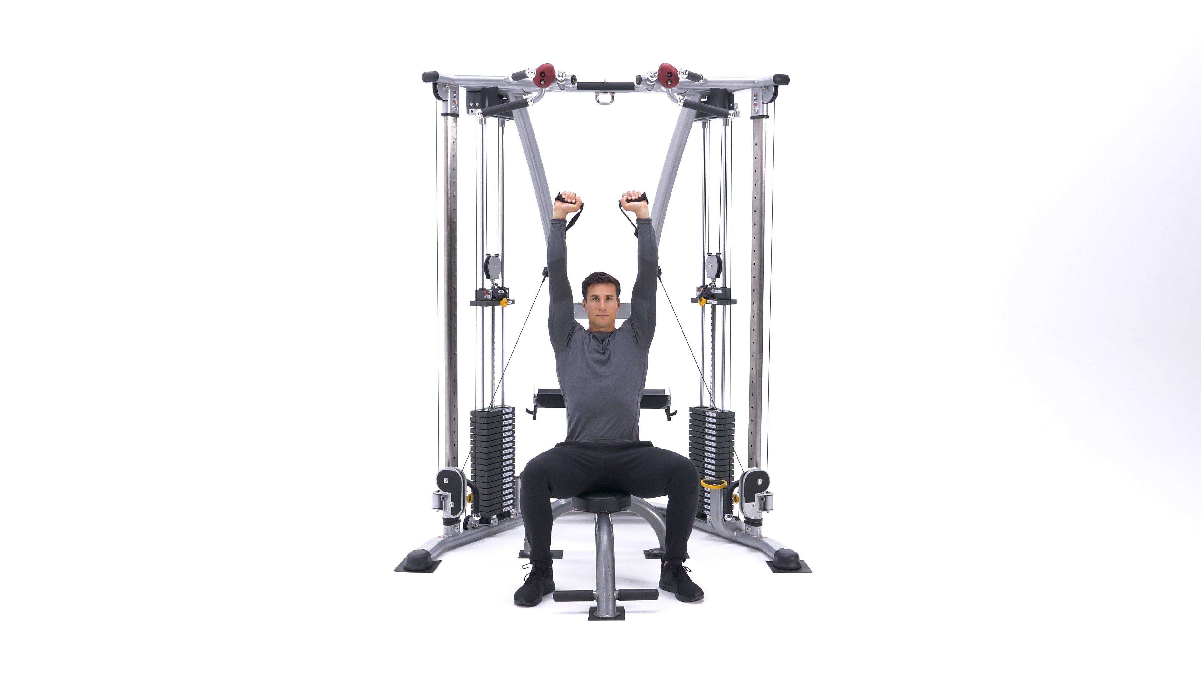 Seated cable shoulder press image