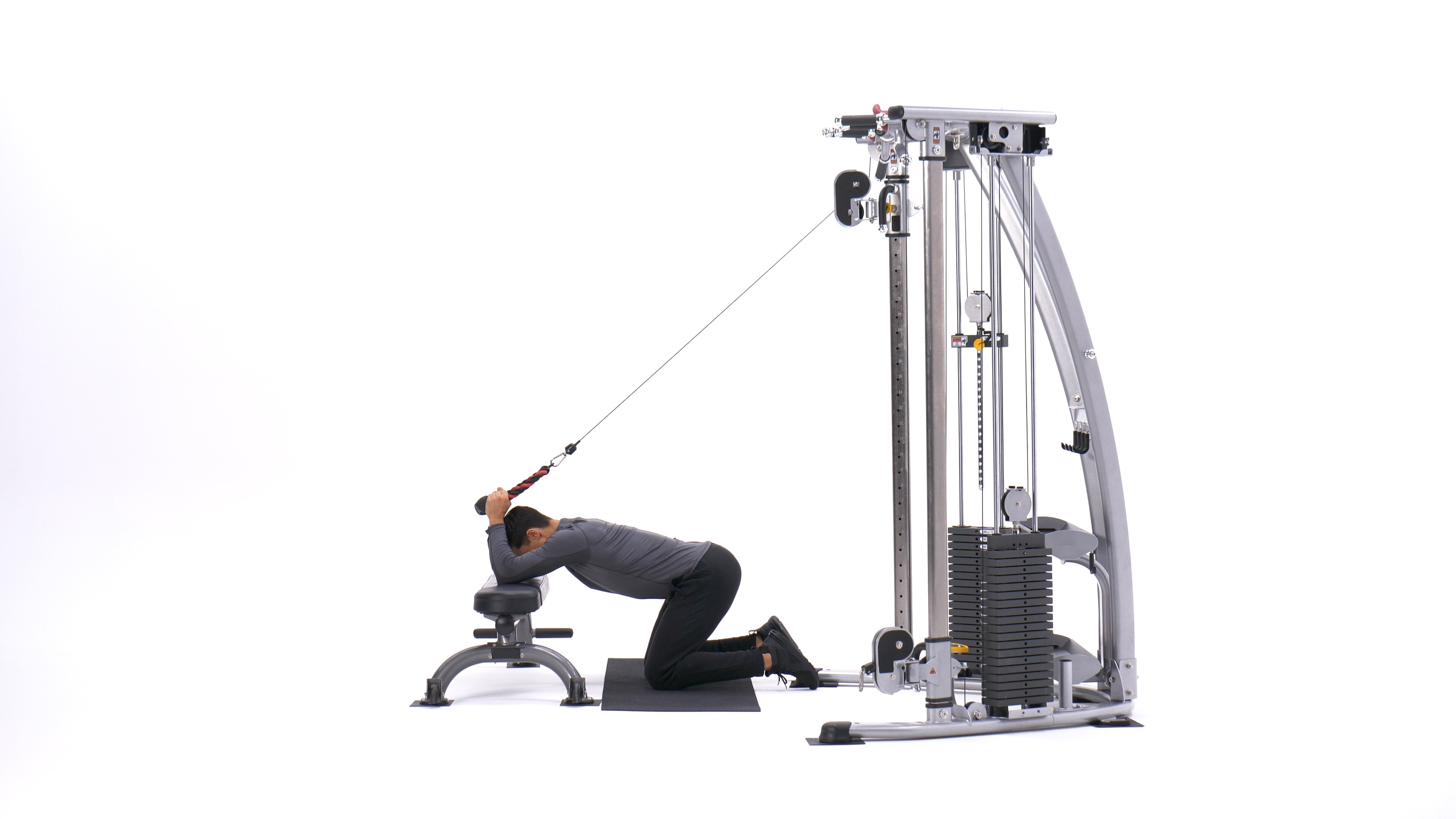 Kneeling cable triceps extension image