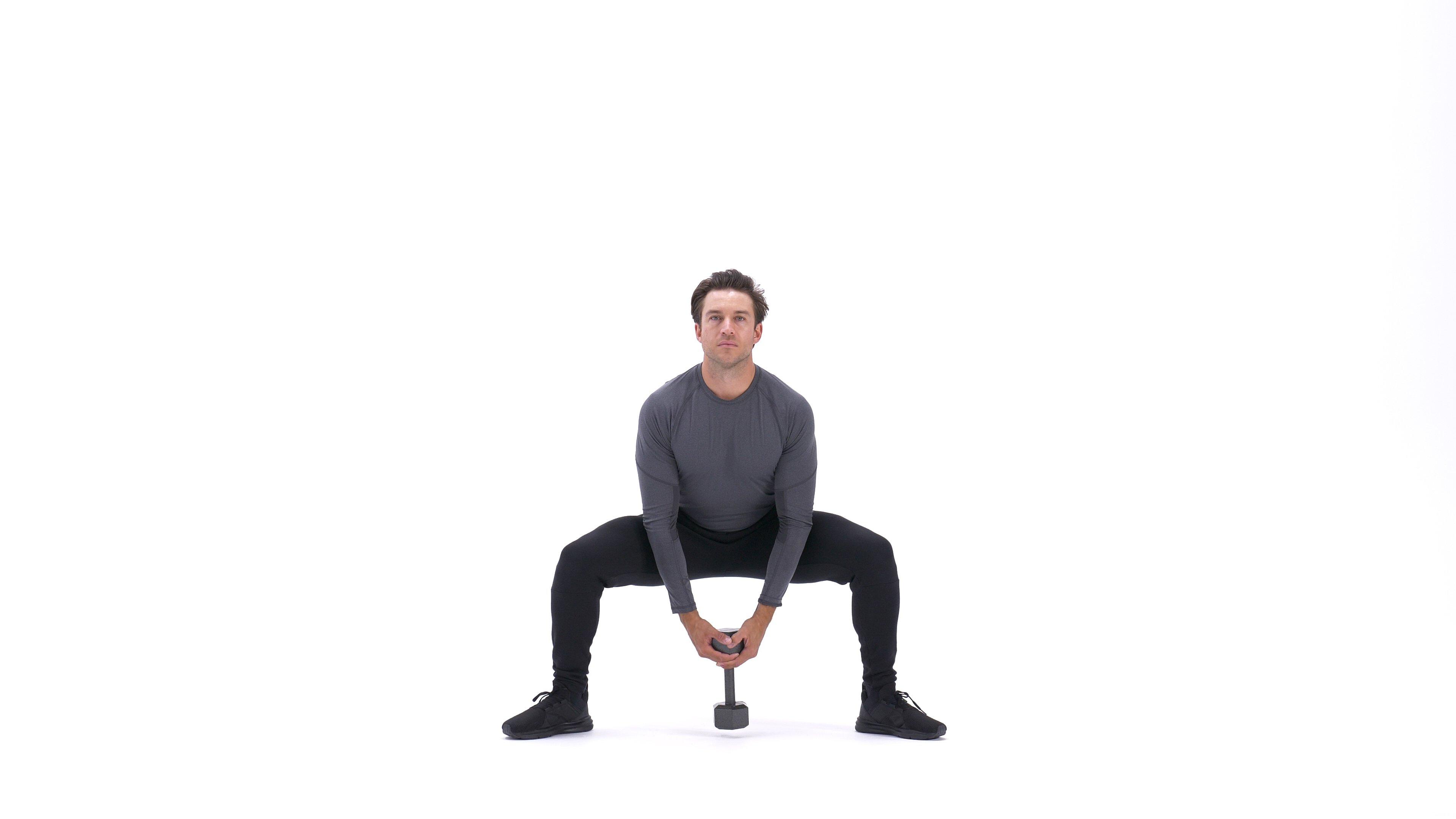 Dumbbell sumo squat image